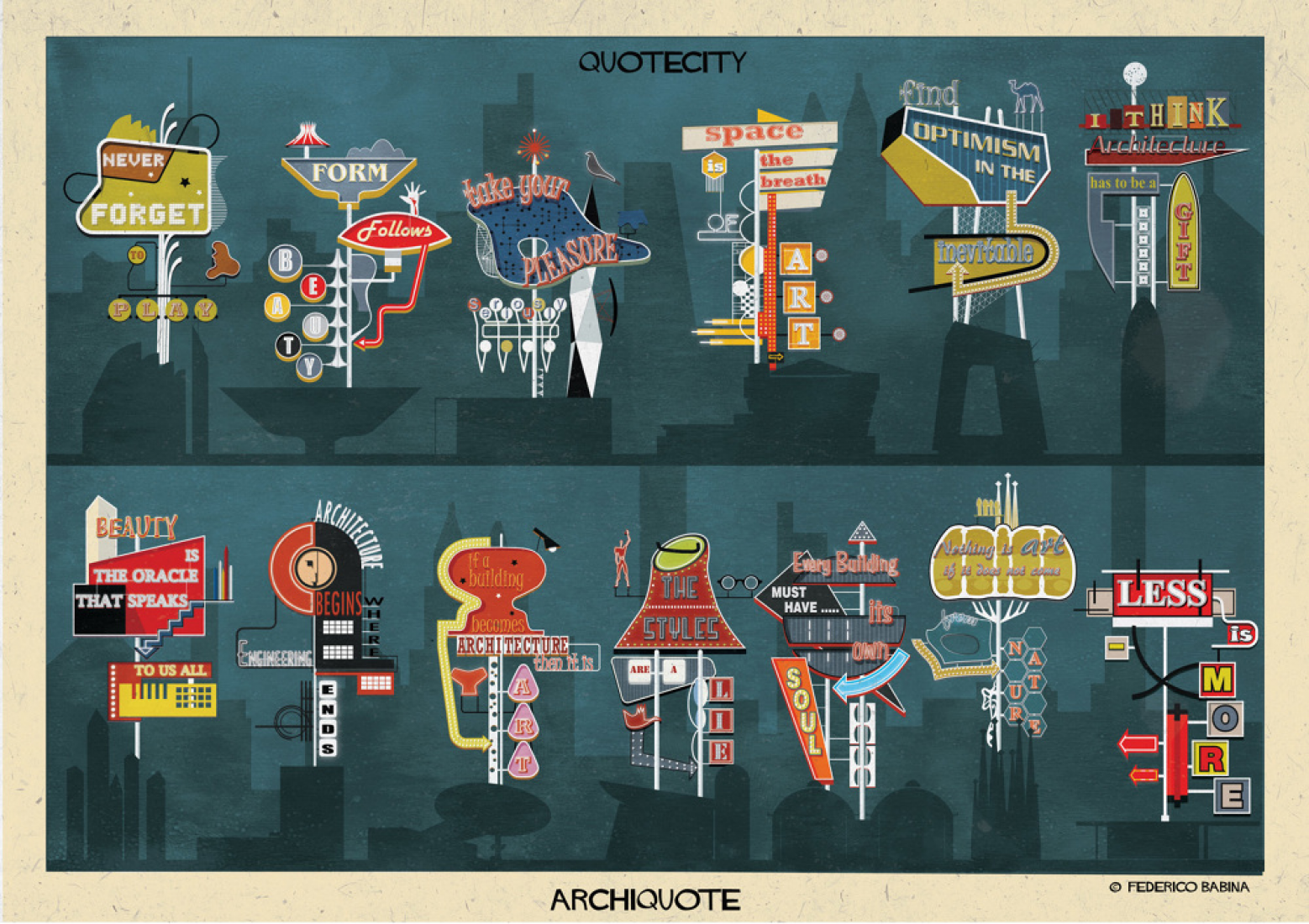 Archiquote series by © Federico Babina.