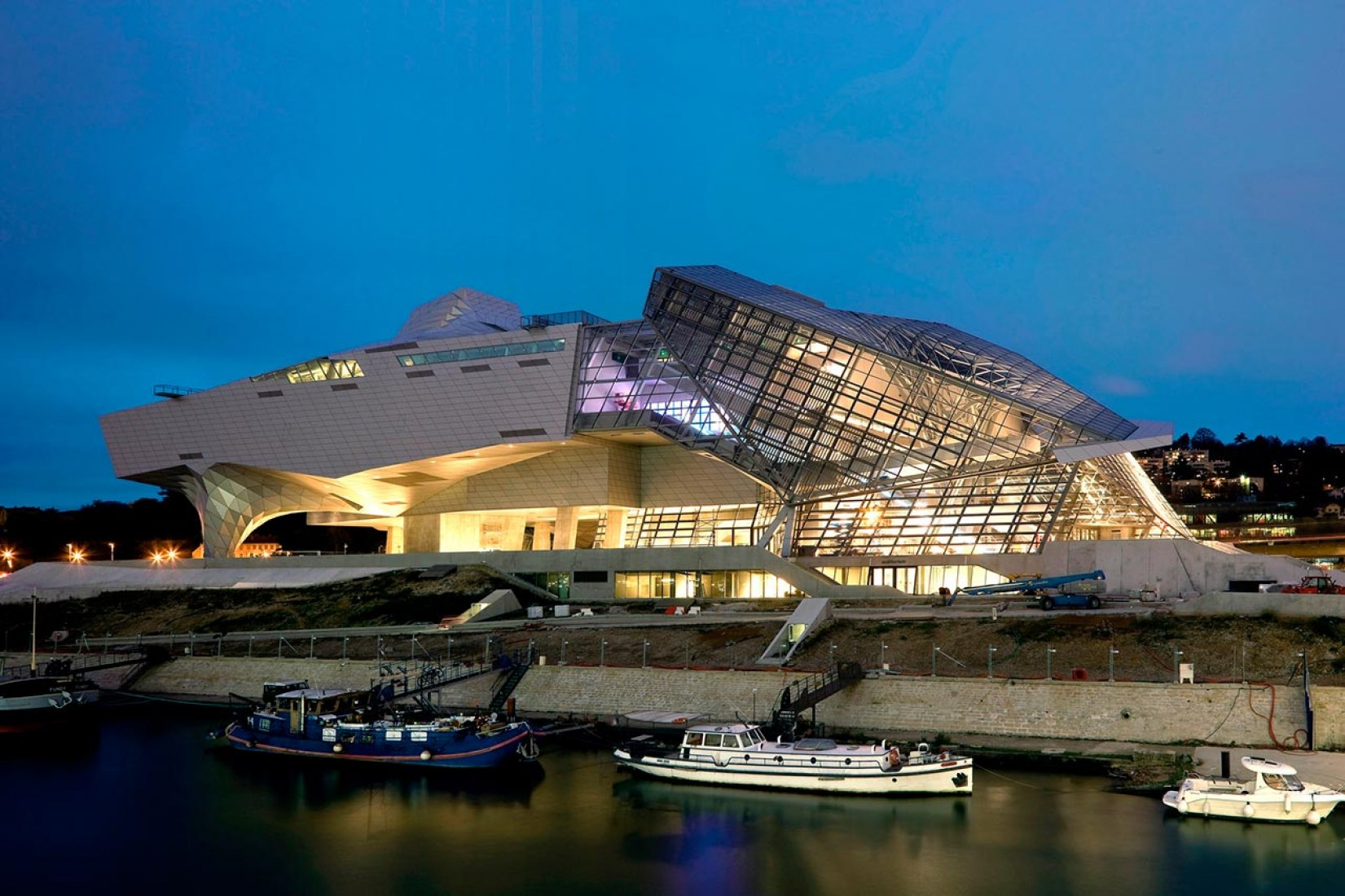 The new Musée des Confluences, by Coop Himmelb(l)au, at the confluence of the Rhône and Saône Rivers in Lyon, France.