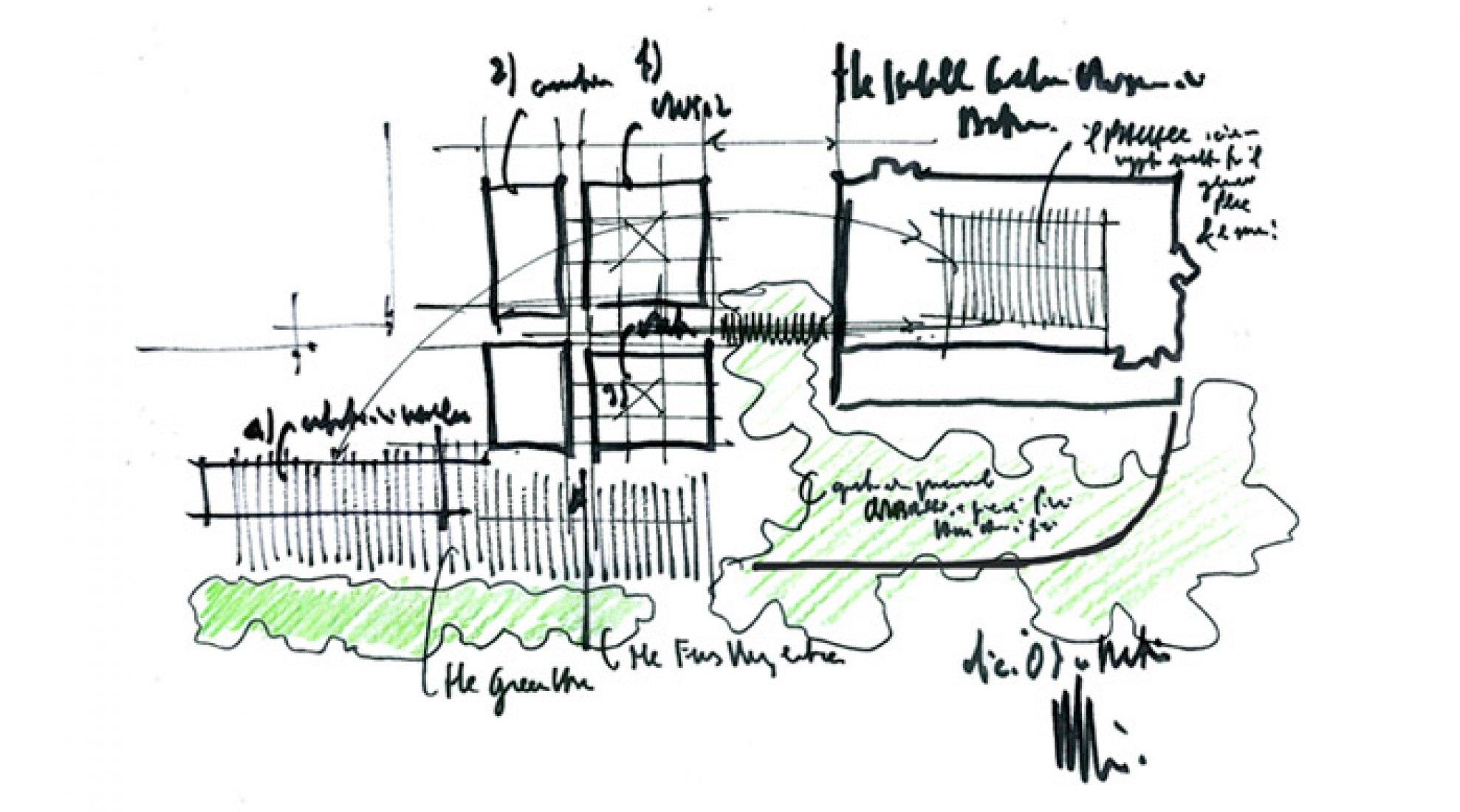 Site Plan of the Isabella Stewart Gardner Museum, Boston. © RENZO PIANO BUILDING WORKSHOP, 2010.