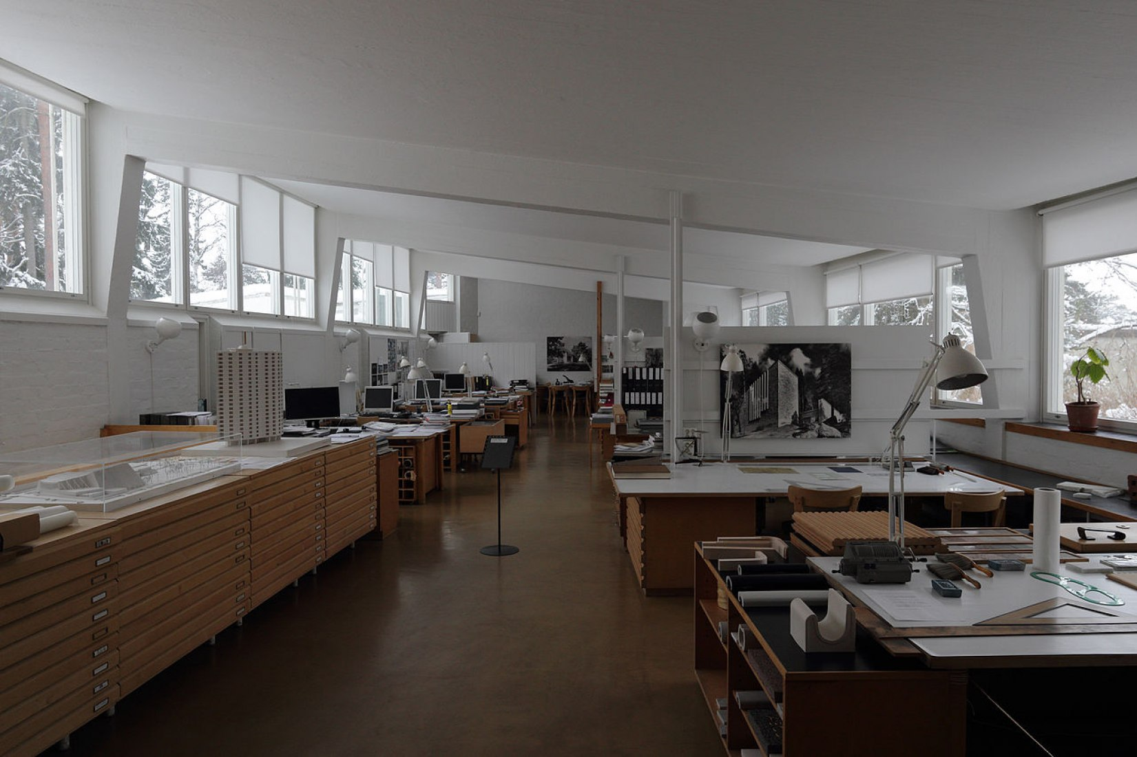 Vista interior. Estudio Aalto Helsinki, Helsinki (1954–56). Fotografía © Pepechibiryu.