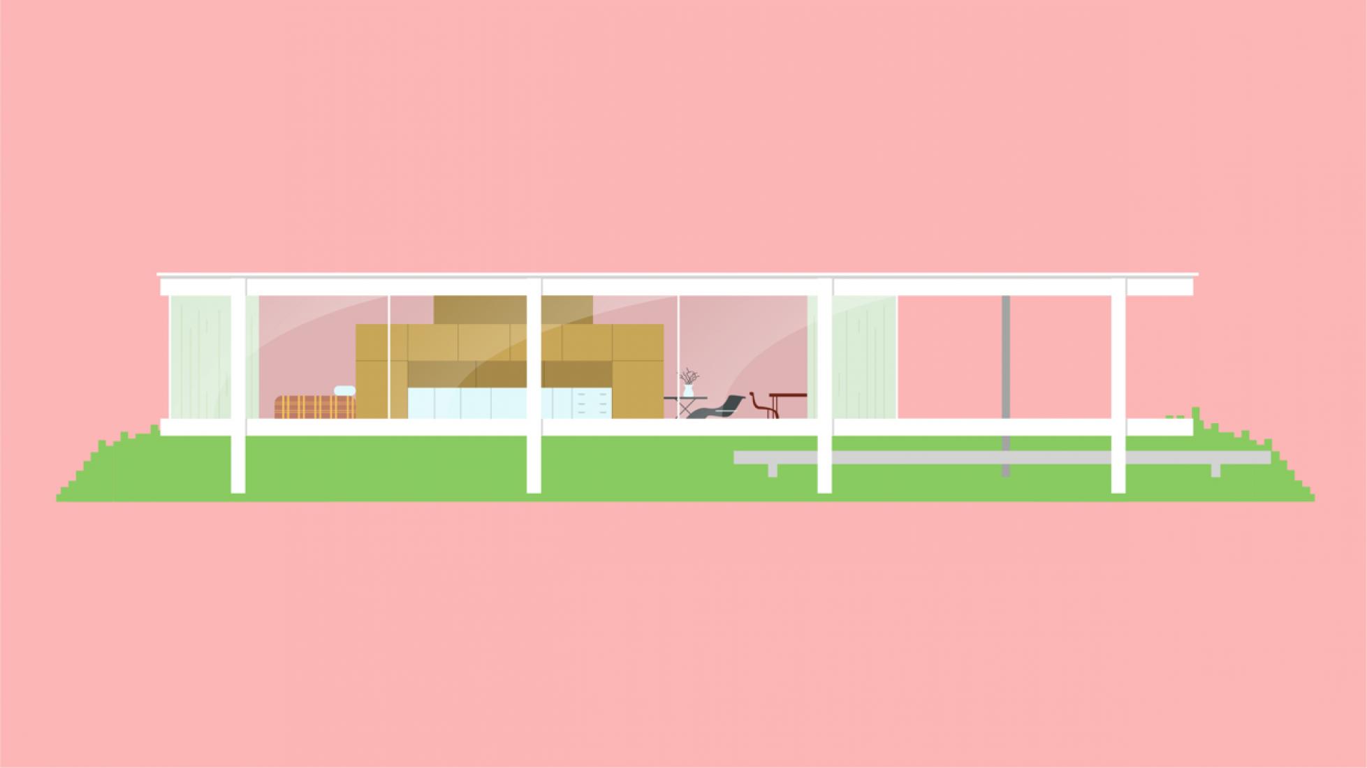Casa Farnsworth por Ludwig Mies van der Rohe. Casas icónicas por Matteo Muci.