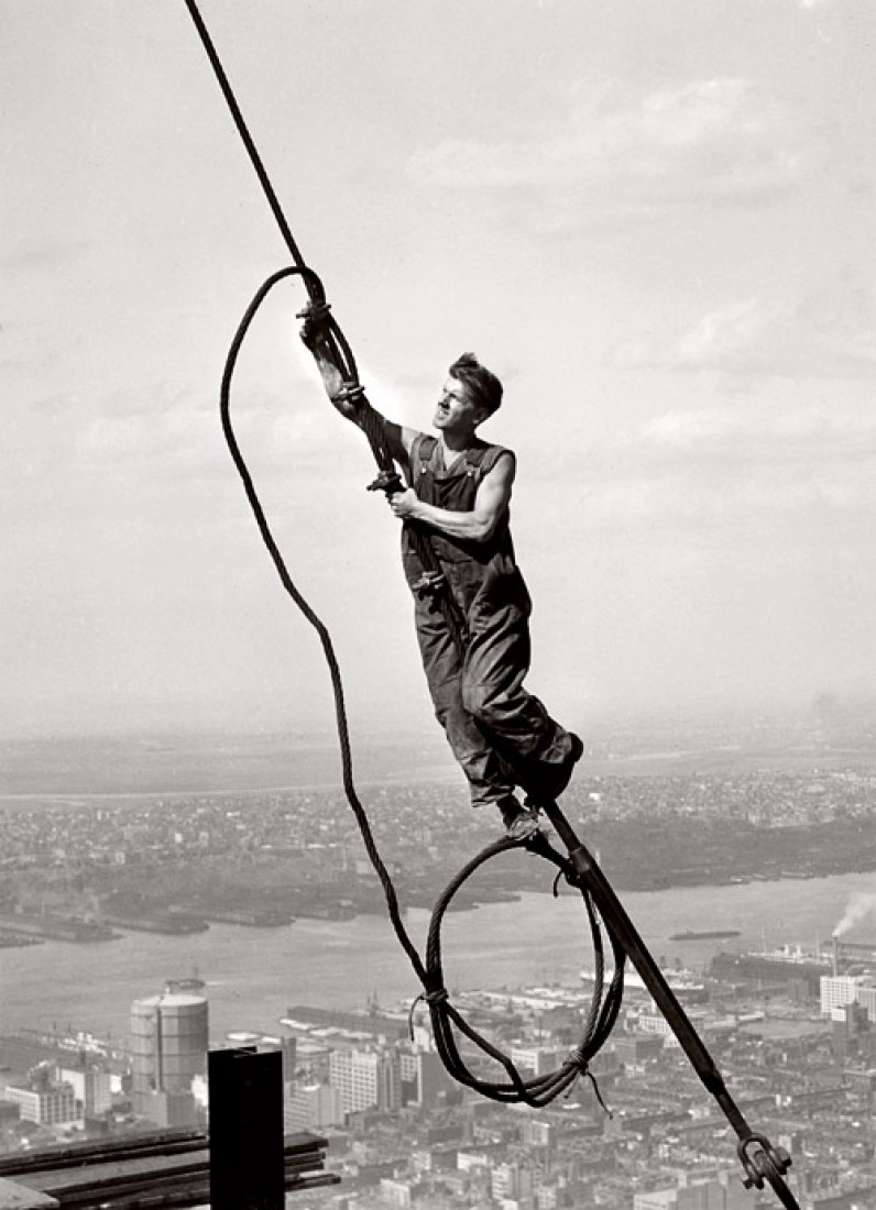 Lewis Hine, Icarus Atop Empire State Building, 1931, © George Eastman House.