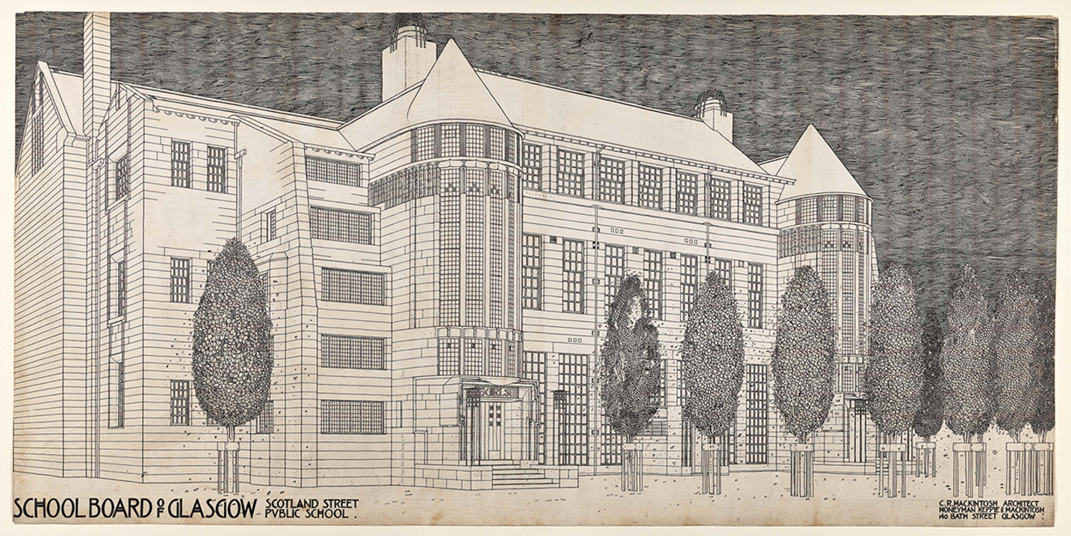 Design for Scotland Street School by Charles Rennie Mackintosh. Image © Hunterian, University of Glasgow. Courtesy of RIBA.