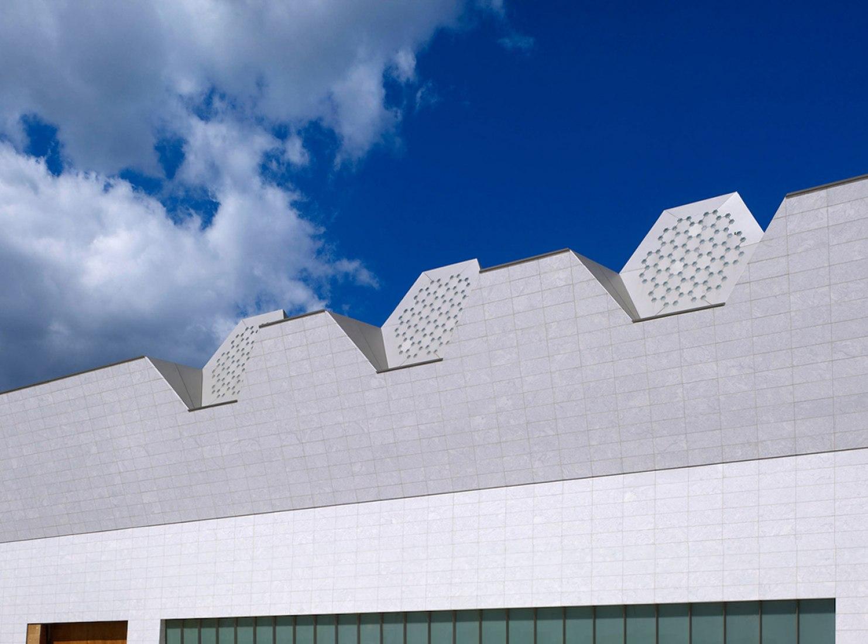 Lucernarios hexagonales. Fotografía © Gary Otte. Aga Khan Museum.