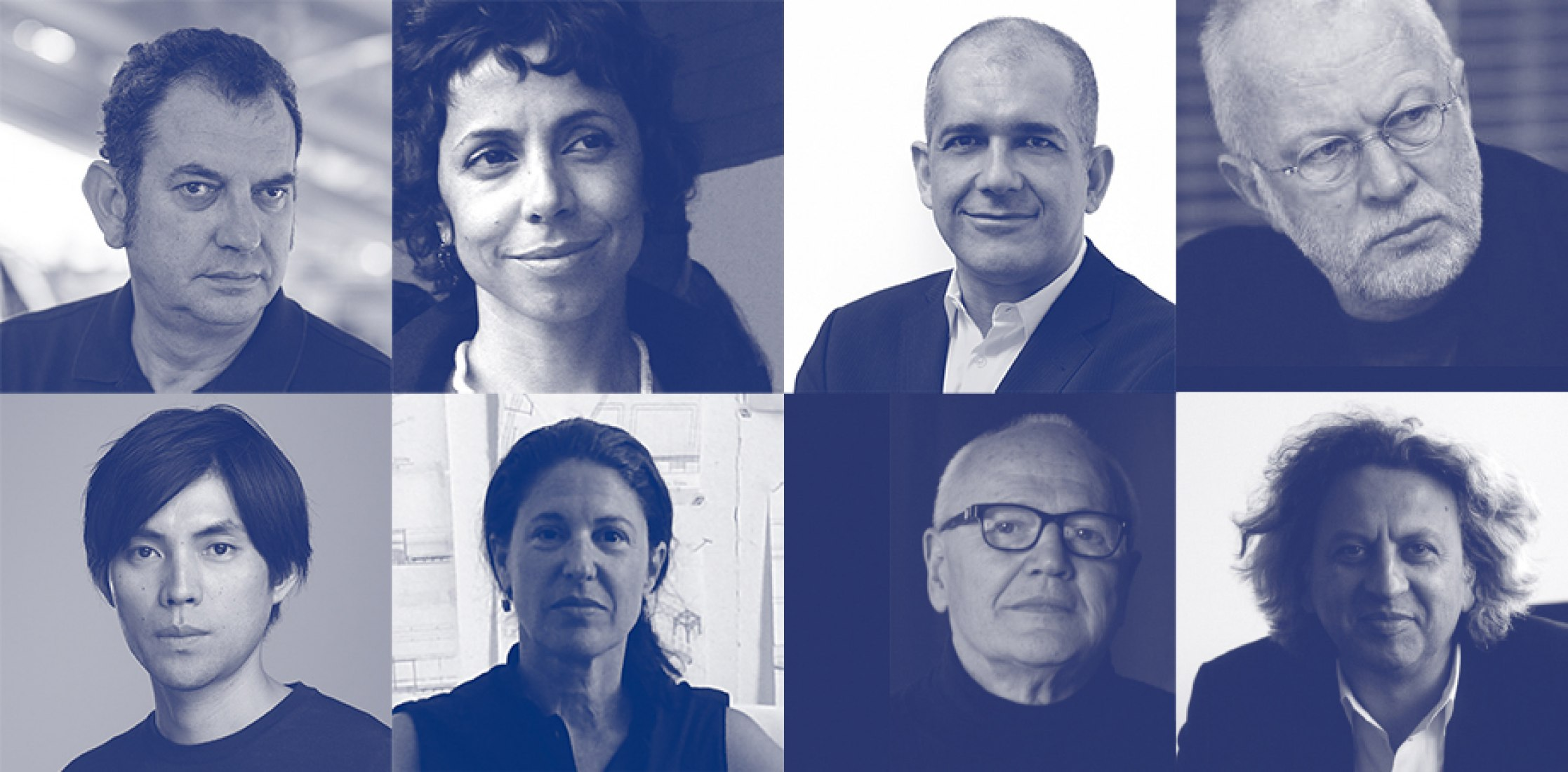 Left to Right. Iñaki Ábalos, Sílvia Benedito, Pedro Gadanho, K. Michael Hays, Shohei Shigematsu, Linda Pollak, Jorge Silvetti and Mohsen Mostafavi.