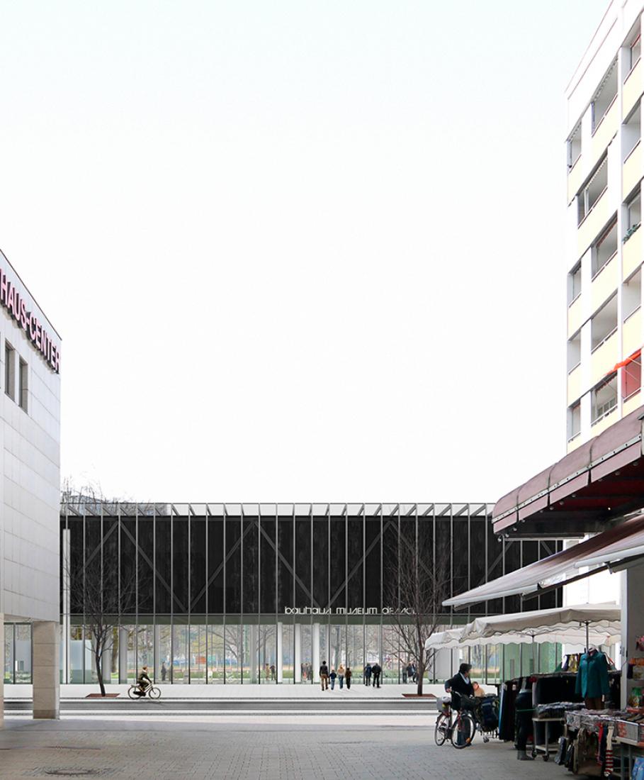 Concurso Museo Bauhaus Dessau. Primer premio. Propuesta de González Hinz Zabala.