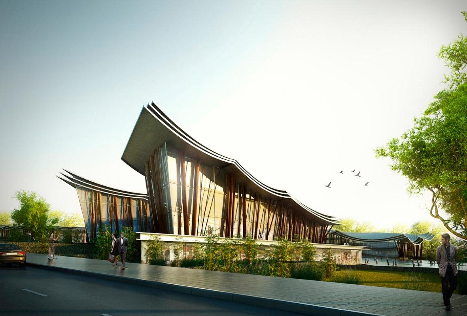 Proyecto ganador para 5 museos y 1 centro deportivo en Meishan, China, por Rafael de La-Hoz asociado con ADRI-HIT.