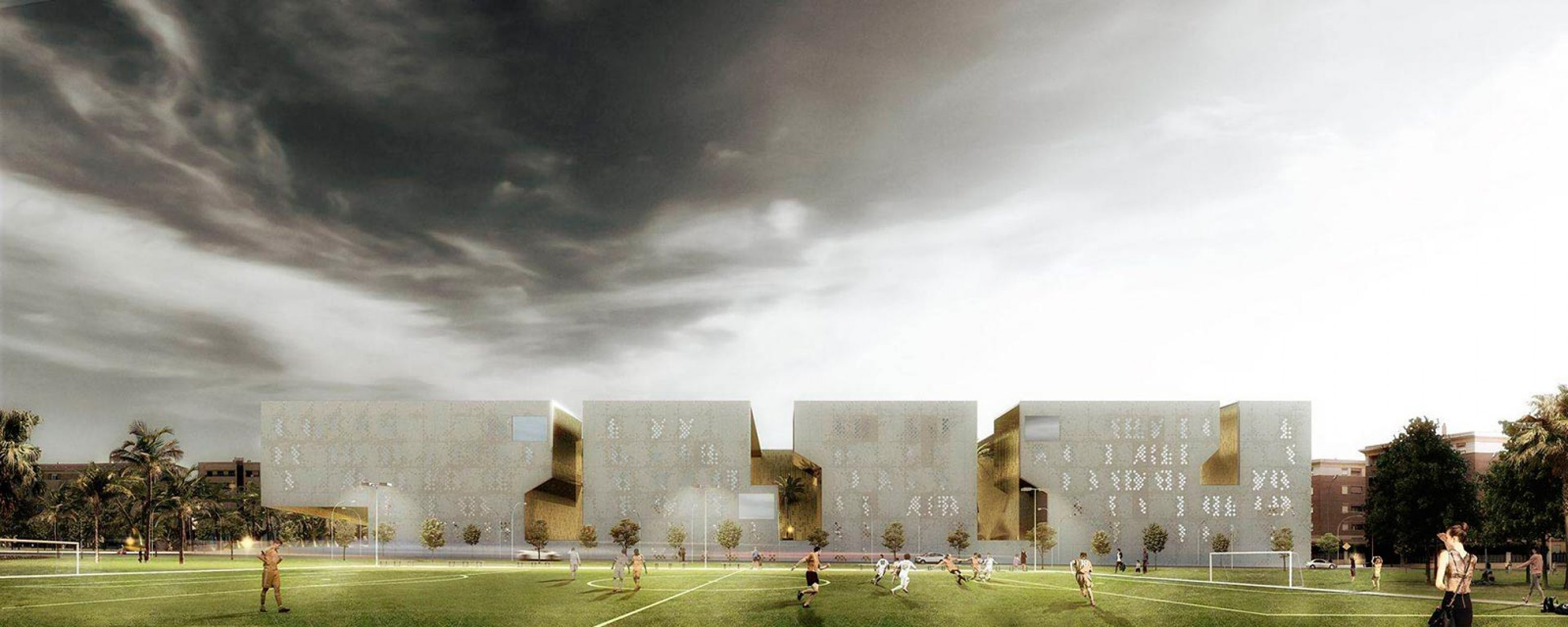 Outside vision, rendering. Image courtesy of Mecanoo. Click above to see larger image.