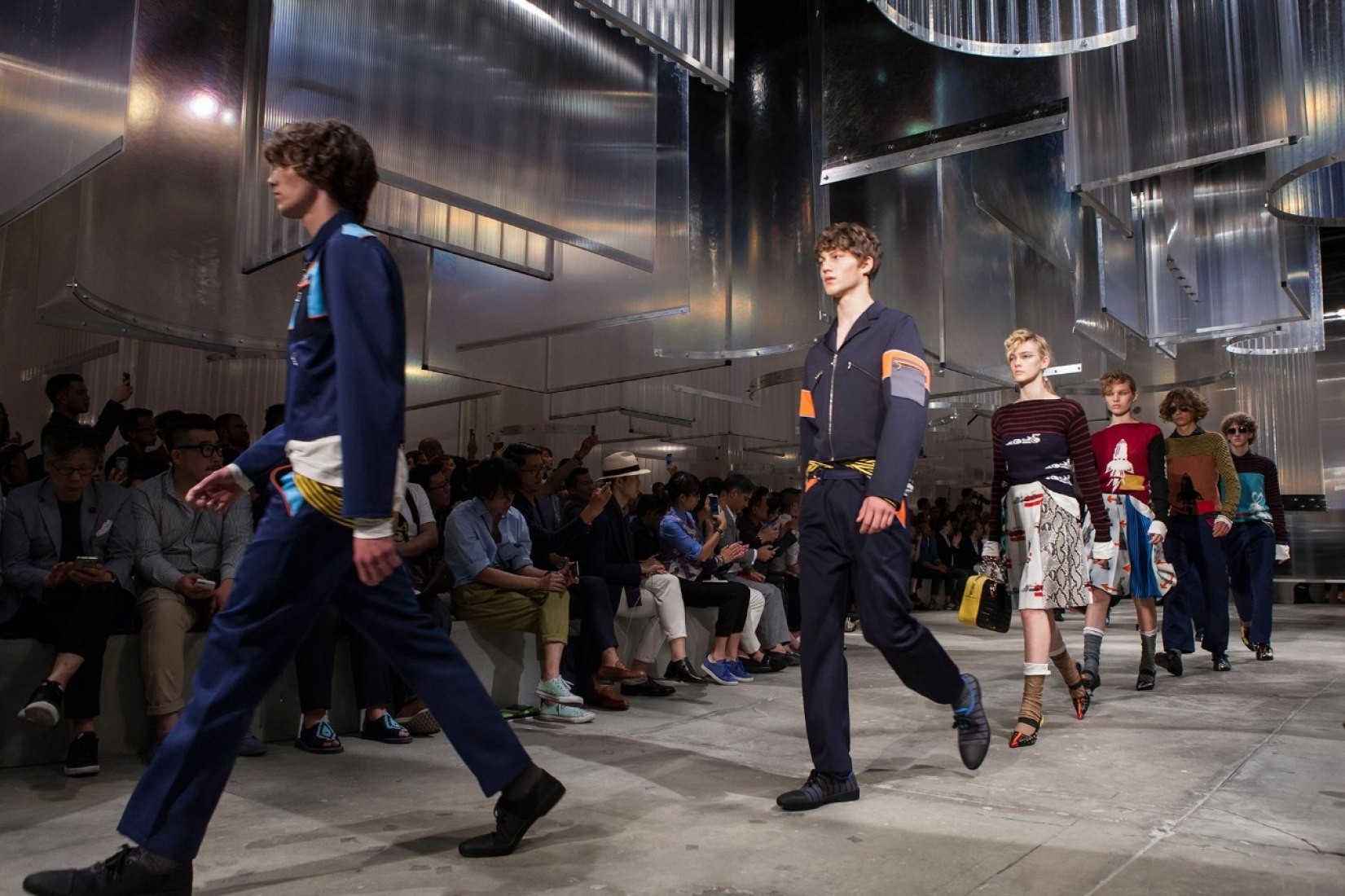 Prada. men's and women's walkway by OMA. Image courtesy of the Prada.