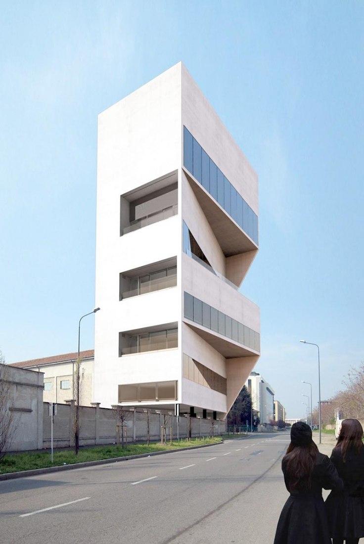 Representación de la Fondazione Prada. Imagen © OMA-Prada.