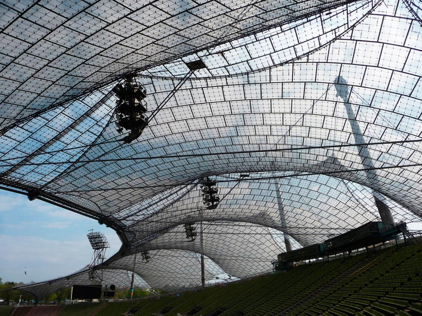 Roofing for main sports facilities in the Munich Olympic Park for the 1972 Summer Olympics, 1968–1972, Munich, Germany . Image © Atelier Frei Otto Warmbronn.