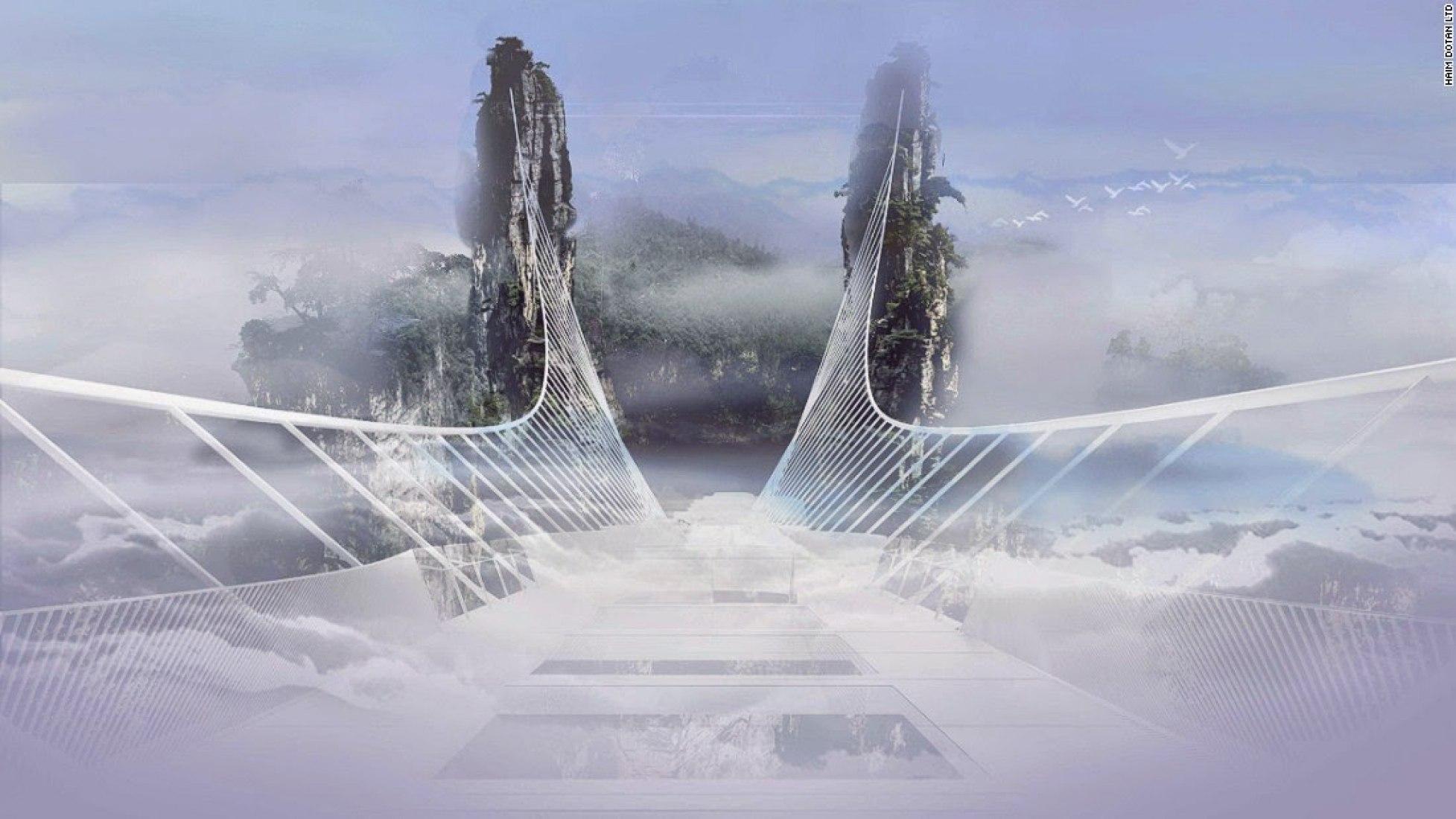 Zhangjiajie's footbridge by Haim Dotan. Image © Haim Dotan Ltd.