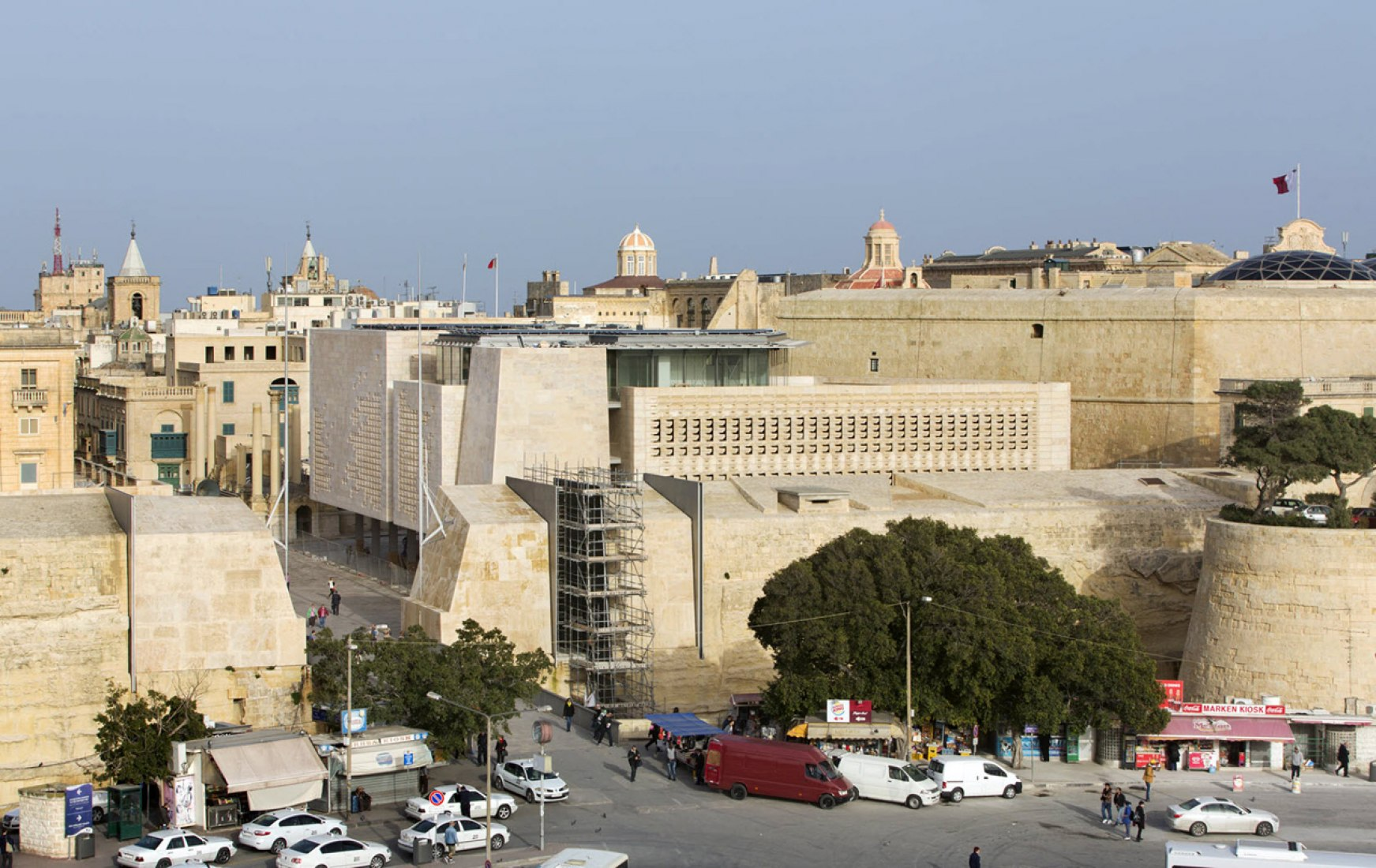 Overview. Reorganization of the entrance to La Valletta by Renzo Piano. Photograph © Michael Dénance.