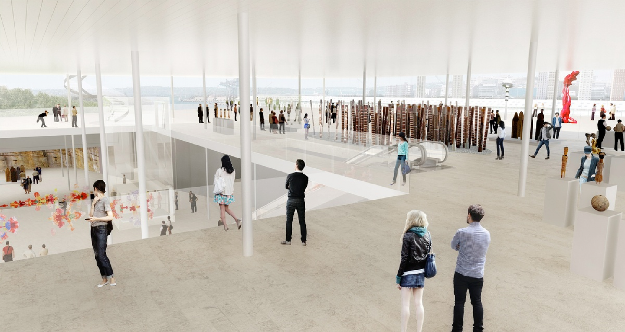 The winning proposal for the expansion of Art Gallery of NSW by SANAA. Image courtesy of AGNSW.