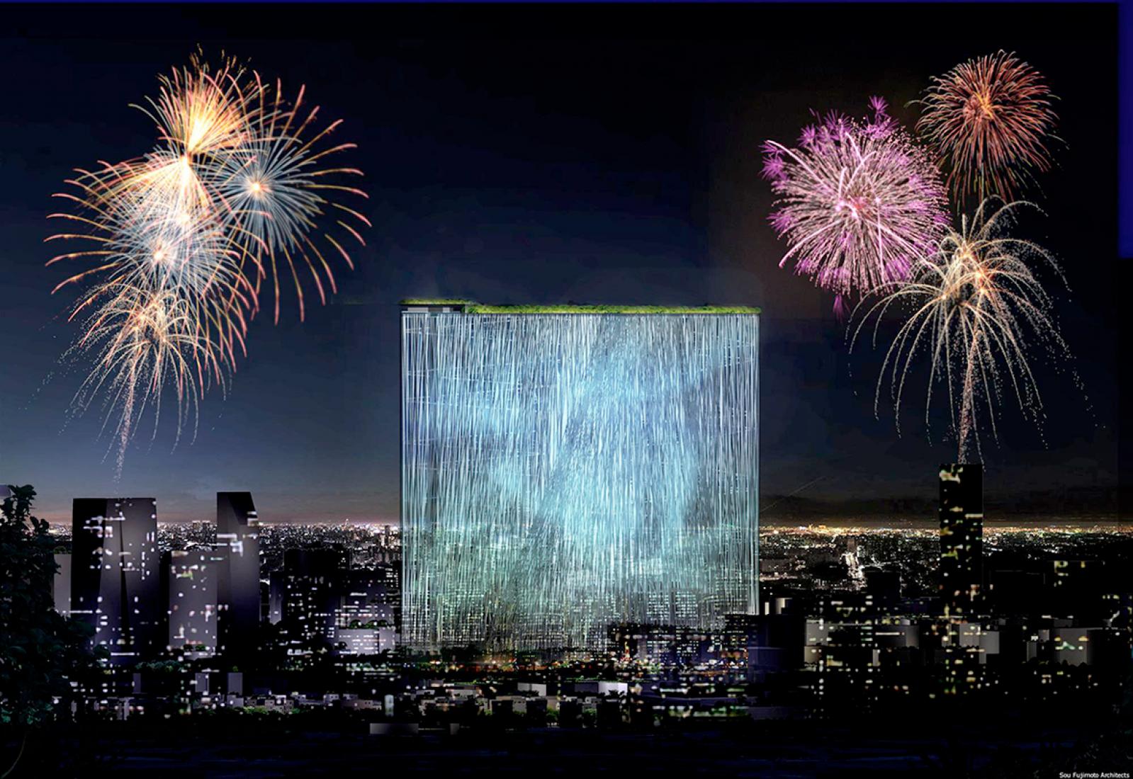 Fuegos de artificio. Primera propuesta, Torre Taiwan por Sou Fujimoto Architects. Imagen © SFArchitects.