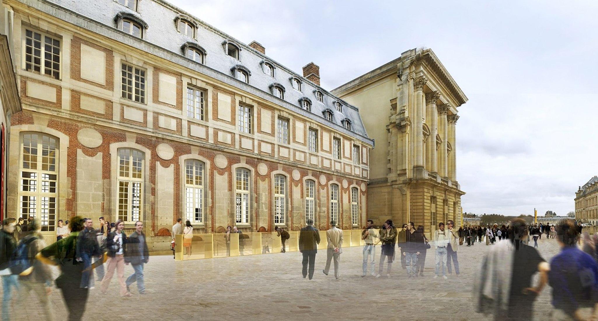Pabellón de Acceso Dufour - Château de Versailles por Dominique Perrault.