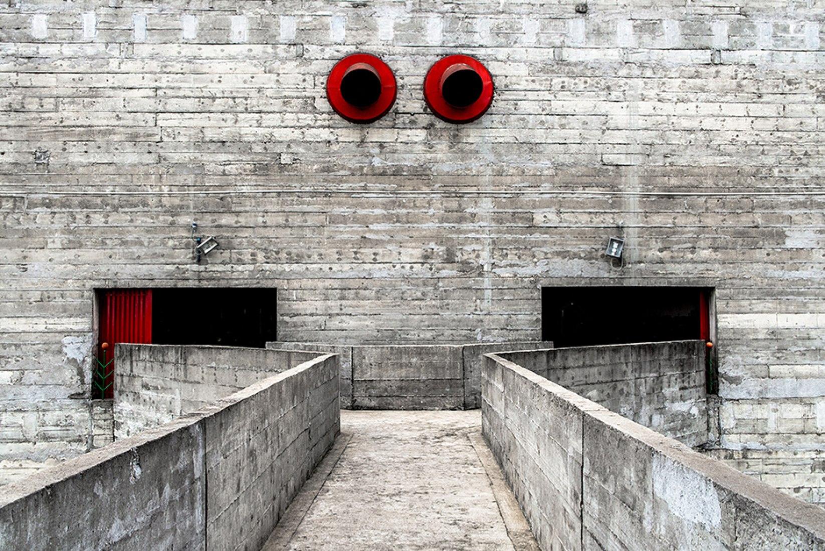 Pompeia Social Centre in São Paulo. Lina Bo Bardi. Photography © Fernando Pines