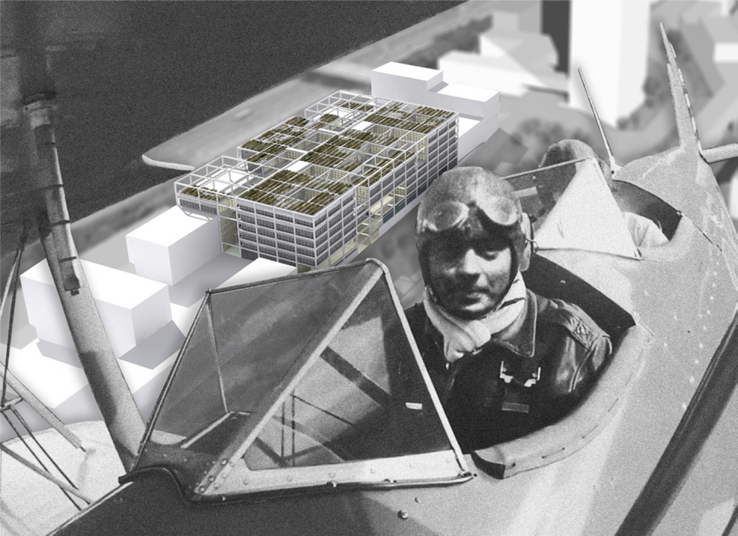 Vista aérea. IRT St Exupéry por Clément Blanchet Architecture-AUA (partners architects).