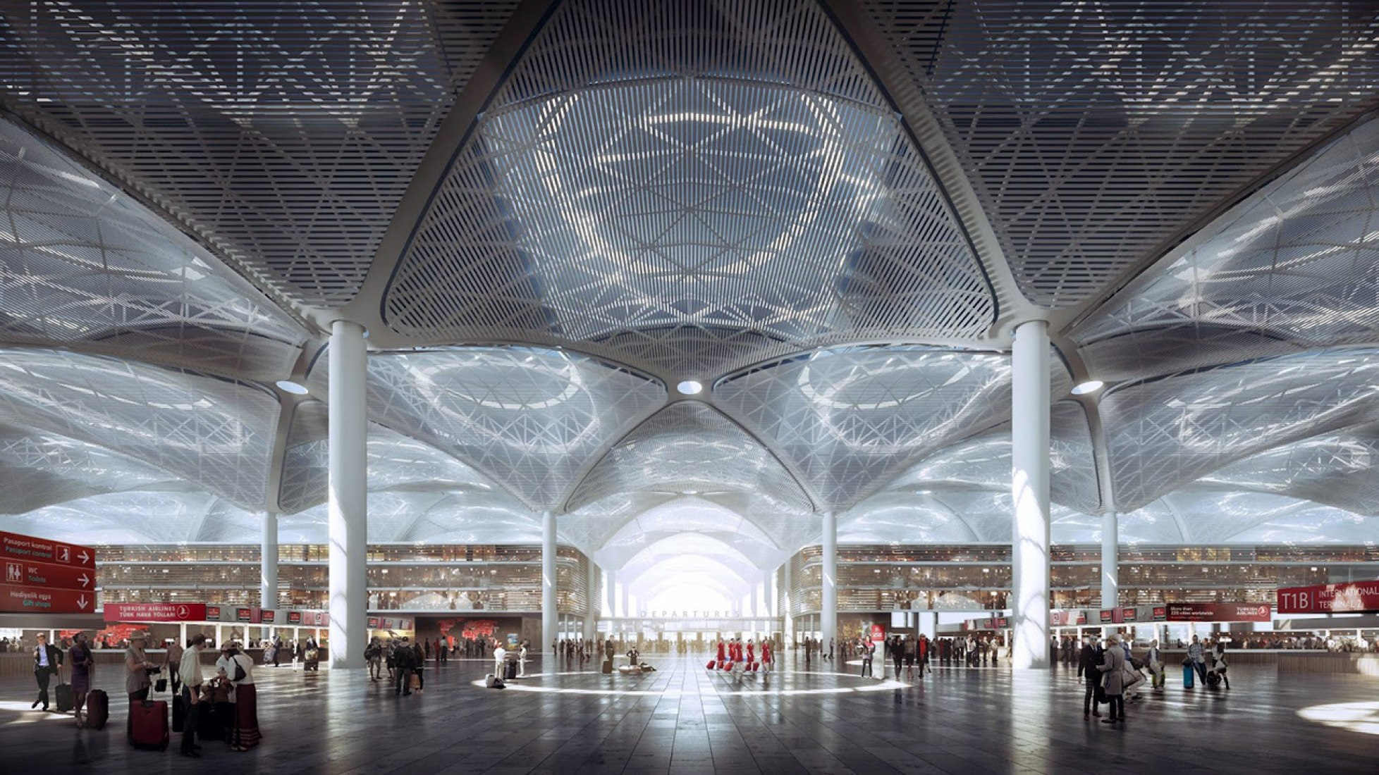 Istanbul Grand Airport by Haptic, Grimshaw and Nordic Office of Architecture. Images © MIR