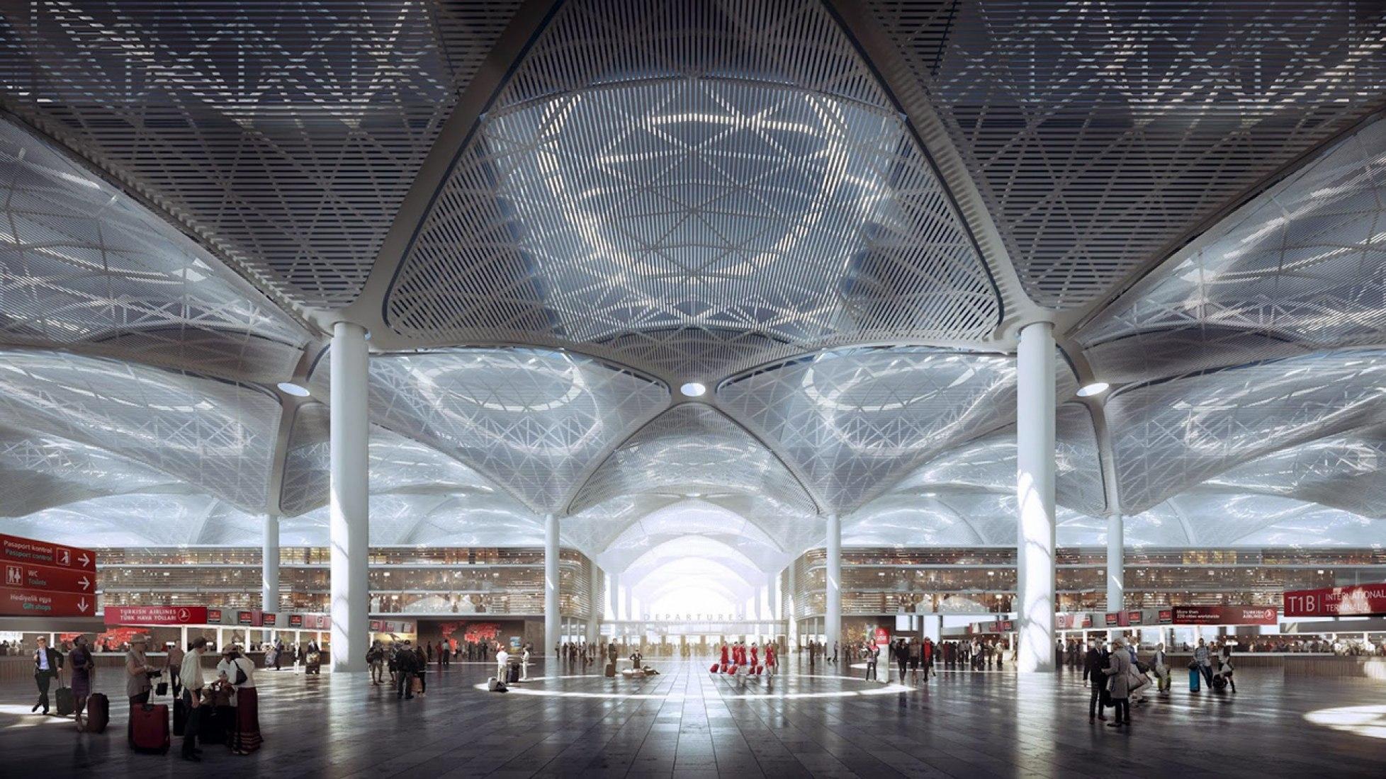 Terminal para el Aeropuerto de Estambul por Grimshaw, Nordic y Haptic. Imagen © MIR.
