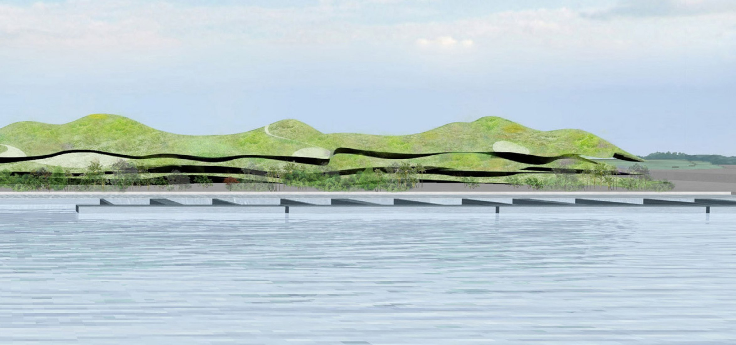 WINNER. Artificial landscape desing by Junya Ishigami + Associates. Image courtesy of Port of Kinmen Passenger Service Center.