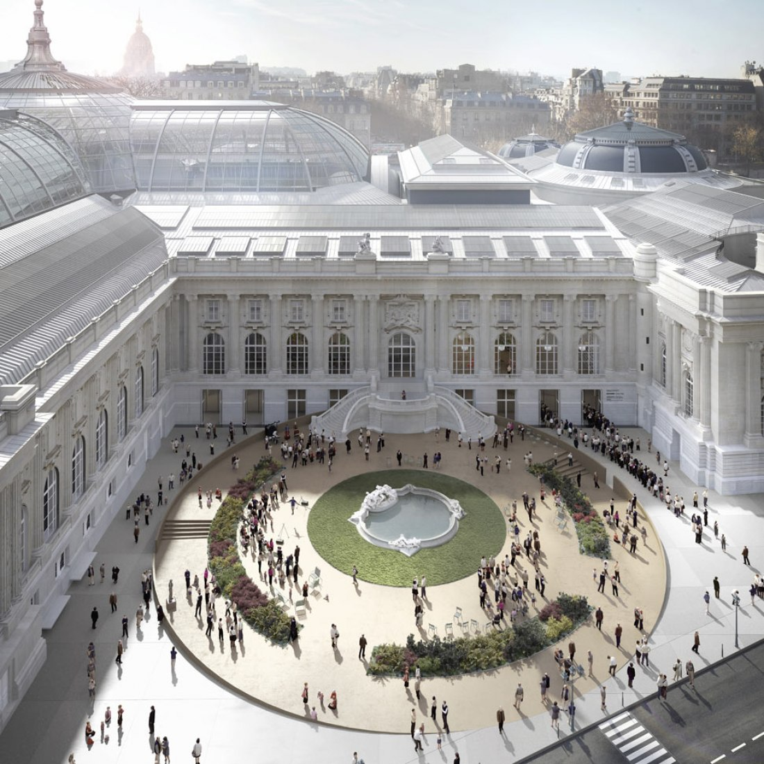 Jean Perrin Square's metamorphosis. Renovation of Le Grand Palais des Champs Elysées by LAN.