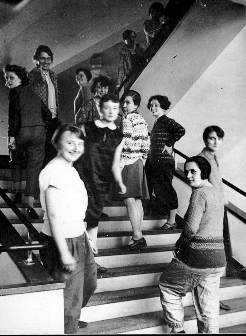 Students of the Bauhaus in Dessau. Photography Lux Feininger. Ca. 1927. Photograph: Bauhaus Archive, Berlin.