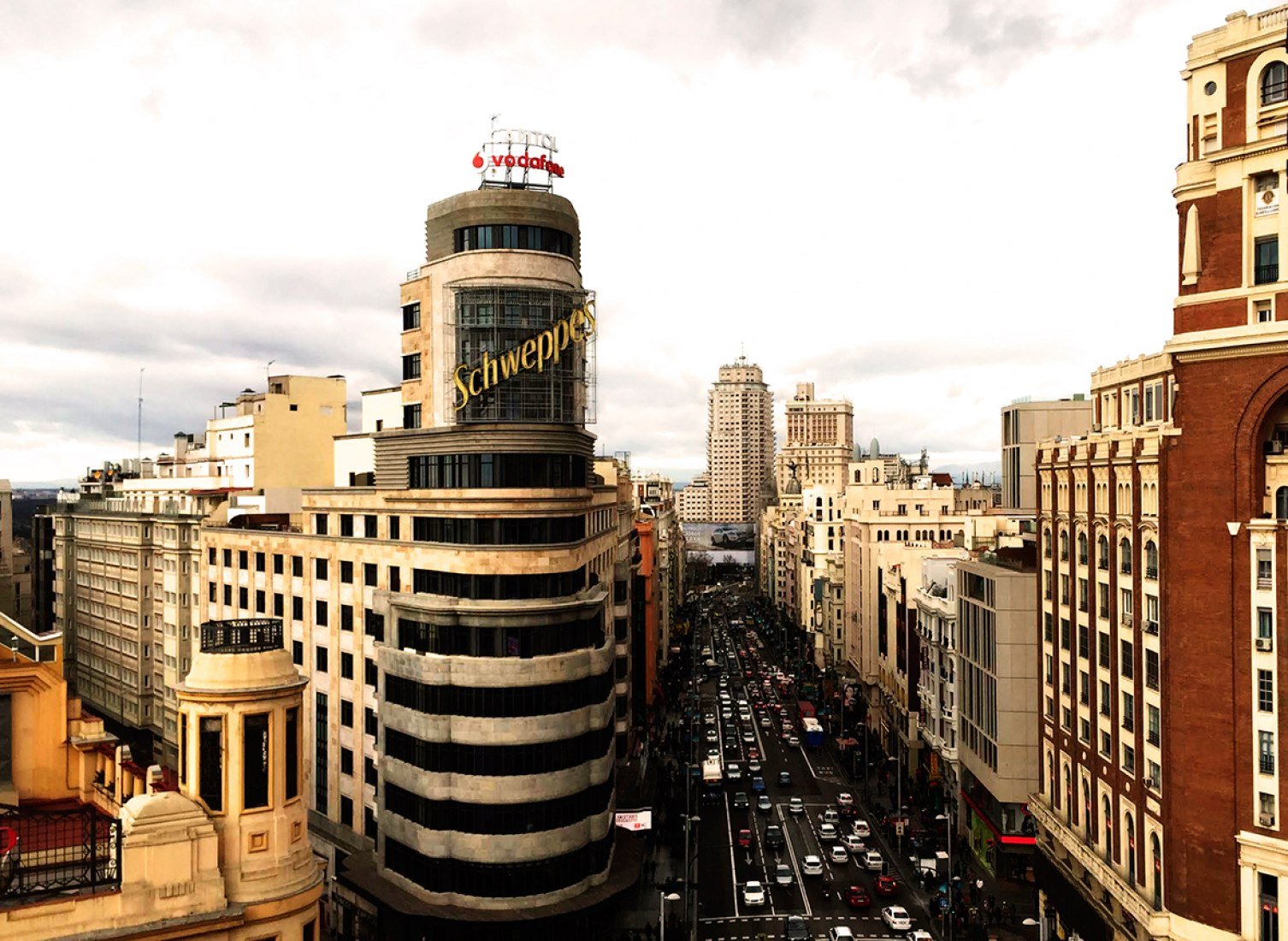 View of the Gran Vía. Photography © Miguel Ángel Aguiló. Image courtesy of Pati Núñez Agency.