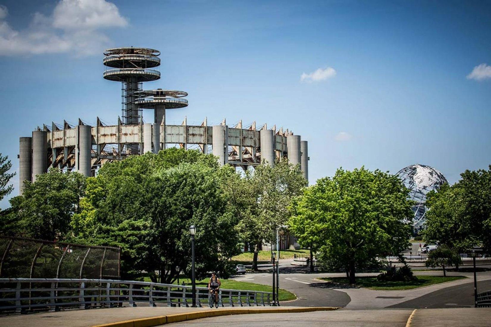 New York World's Fair Pavilion in the present day. Image via Silva's Kickstarter.
