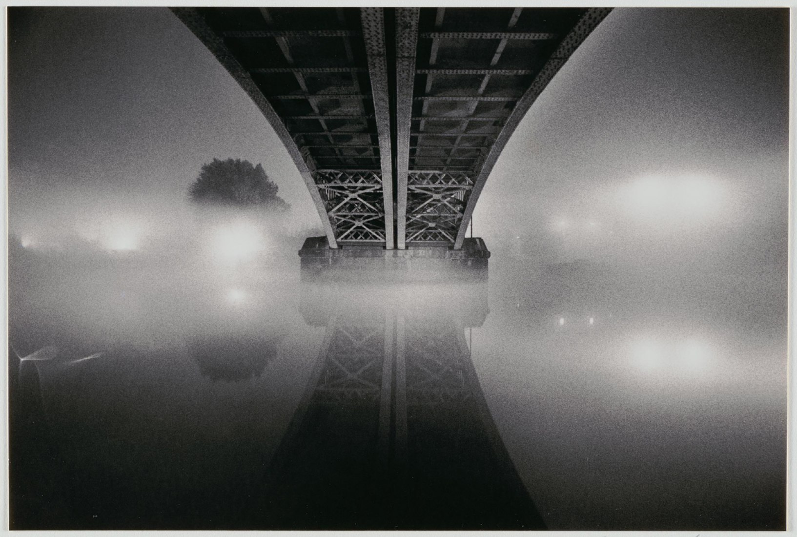 Michael Kenna; Homage to Brassai, London, England; negative 1983/print 1984; Toned gelatin silver print; Gift of the George H. Ebbs Family, 2007.51.52.