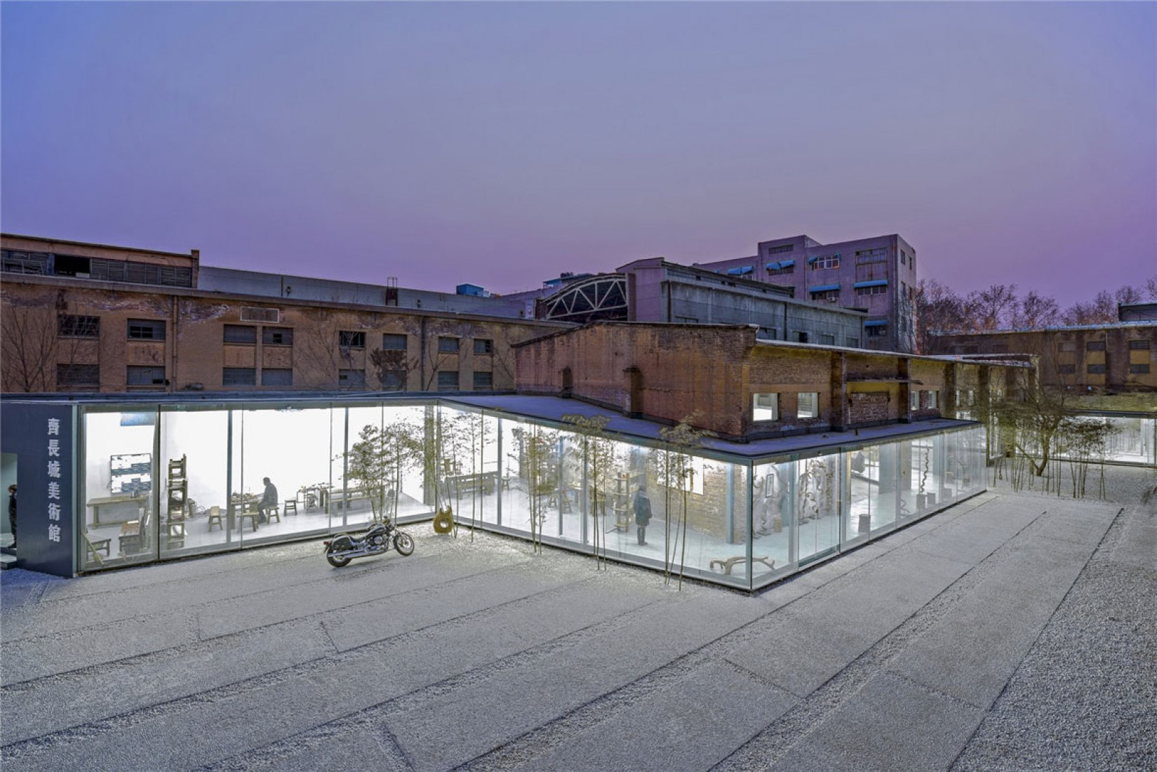 Aerial View. The Great Wall Museum of Fine Art by Archstudio. Photography courtesy of Archstudio.