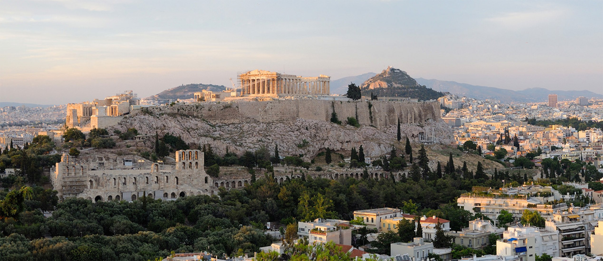 Sunset overview Acropolis. Athens. Greece.