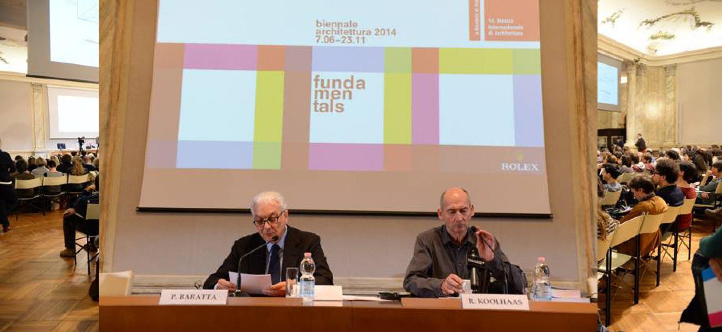 Paolo Baratta y Rem Koolhaas, ayer. Bienal de Venecia 2014.