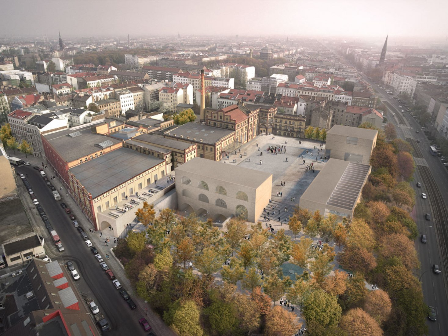 Vista general. Bötzow Brewery por David Chipperfield. Imagen © David Chipperfield Architects.