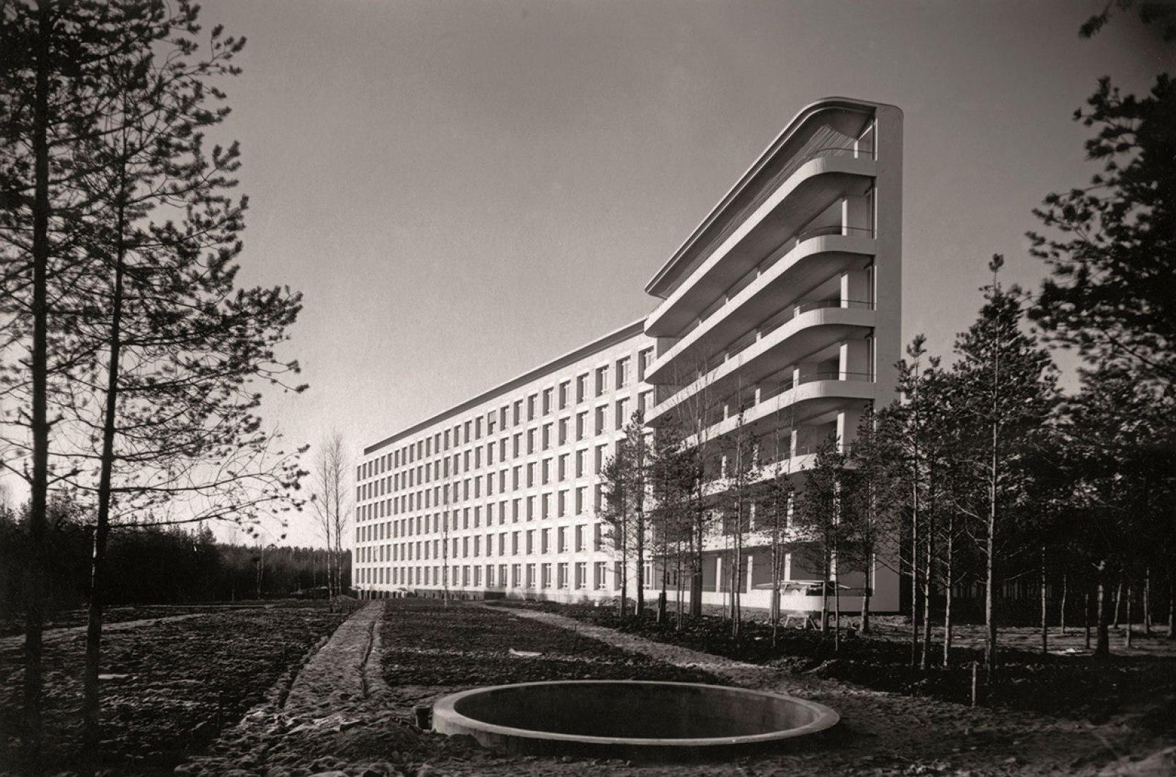 Sanatorio de Paimio para  tuberculosos, Finlandia, Alvar Aalto, 1928-1933 © Alvar Aalto Museum, VEGAP, Barcelona, 2015.