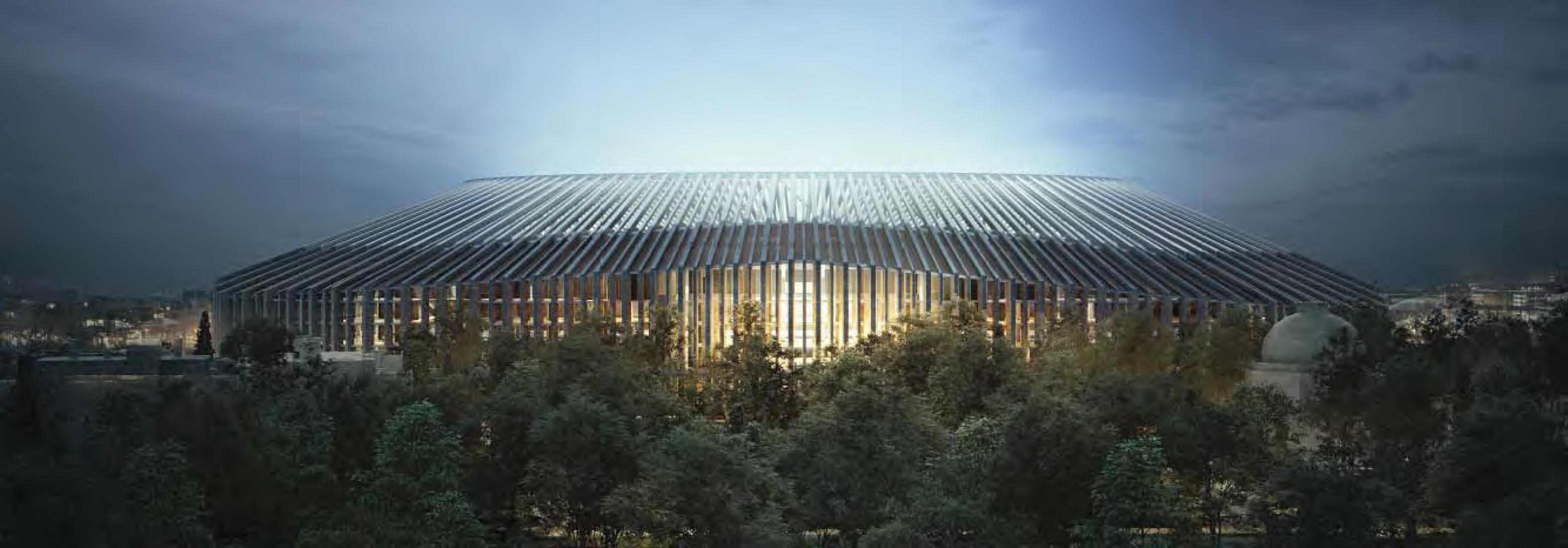 Elevation.  New Chelsea FC Stadium by Herzog & de Meuron. Image © Herzog & de Meuron.