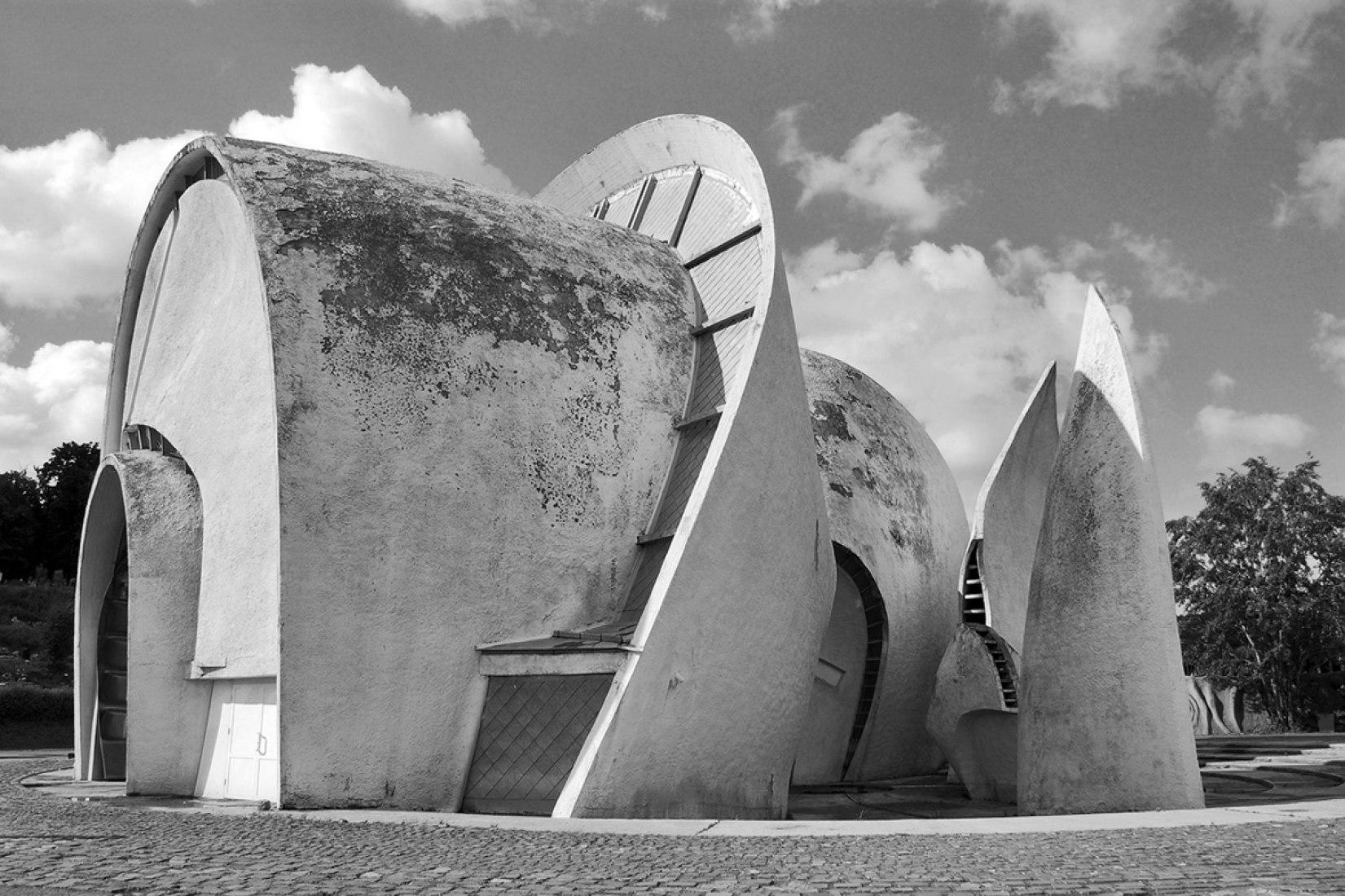 Crematorio del Parque de la Memoria por A. Miletskyi, V. Melnichenko y A. Rybachuk. Imagen cortesía de Garage Museum of Contemporary Art.