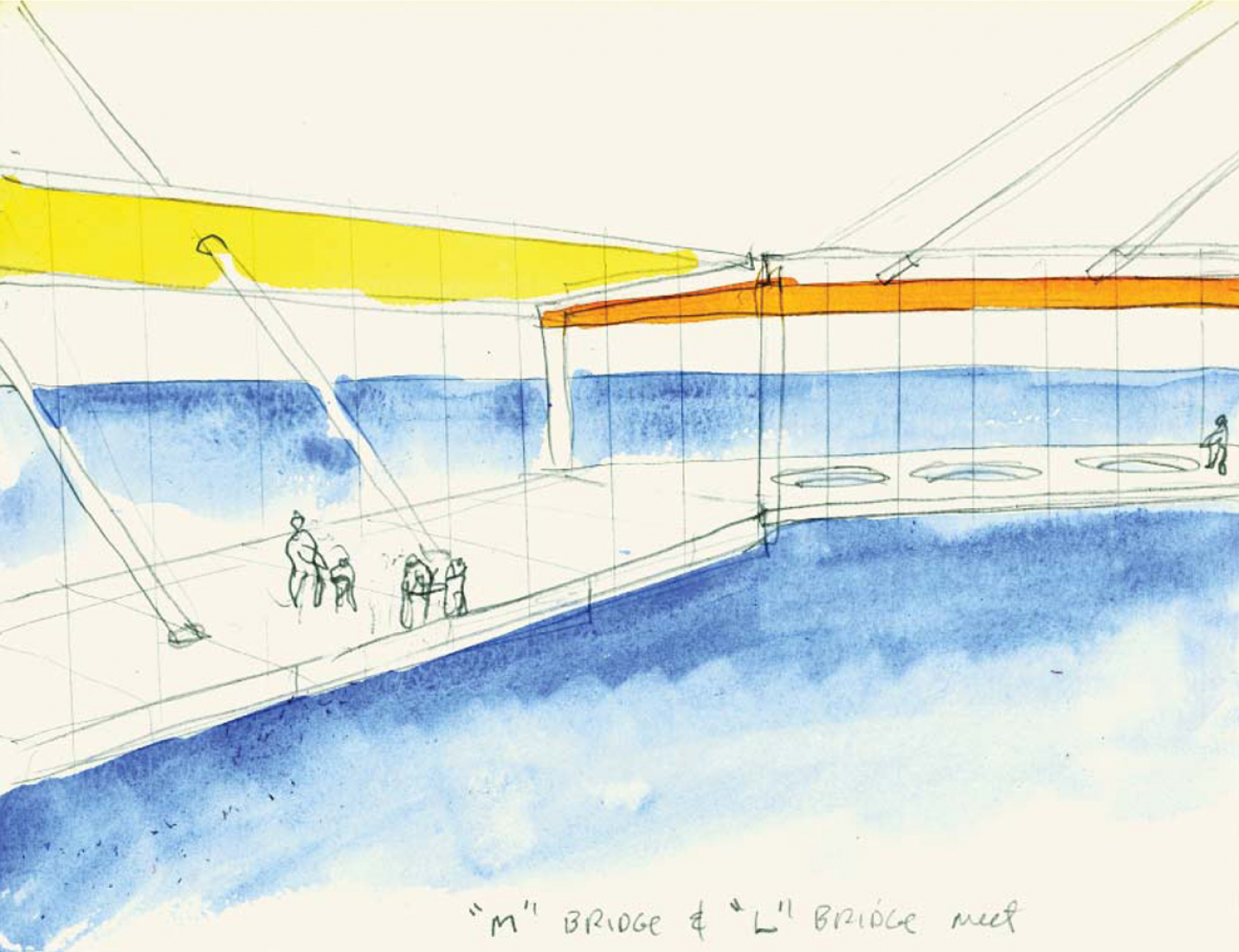 Sketch. The Langelinie and Marmormolen harbor gateway by Steven Holl.