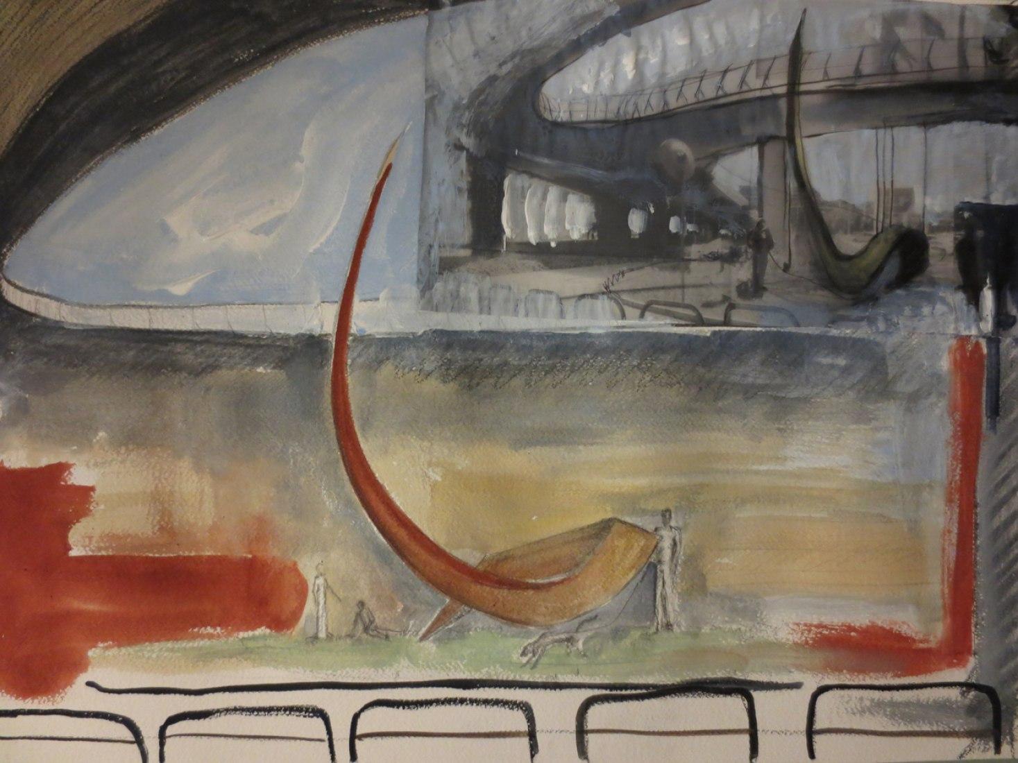 Dibujos previos. Slancio, por Giacomo Tringali y Massimo Mazzone. Imagen cortesía de Massimo Mazzone.