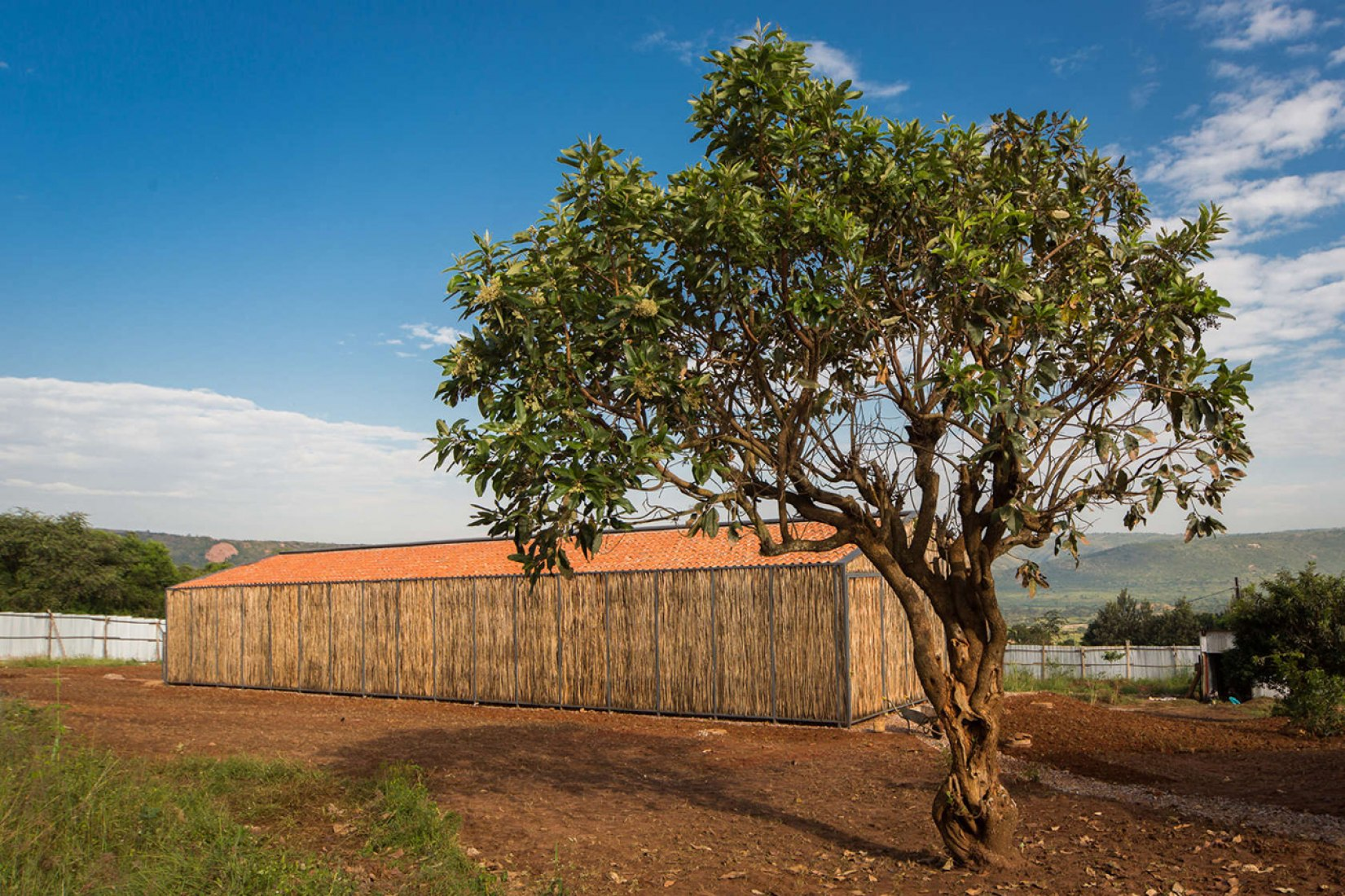 Outside vision of the Hospital Dormitory in Rwanda by Sharon Davis design. Photography © Bruce Engel.