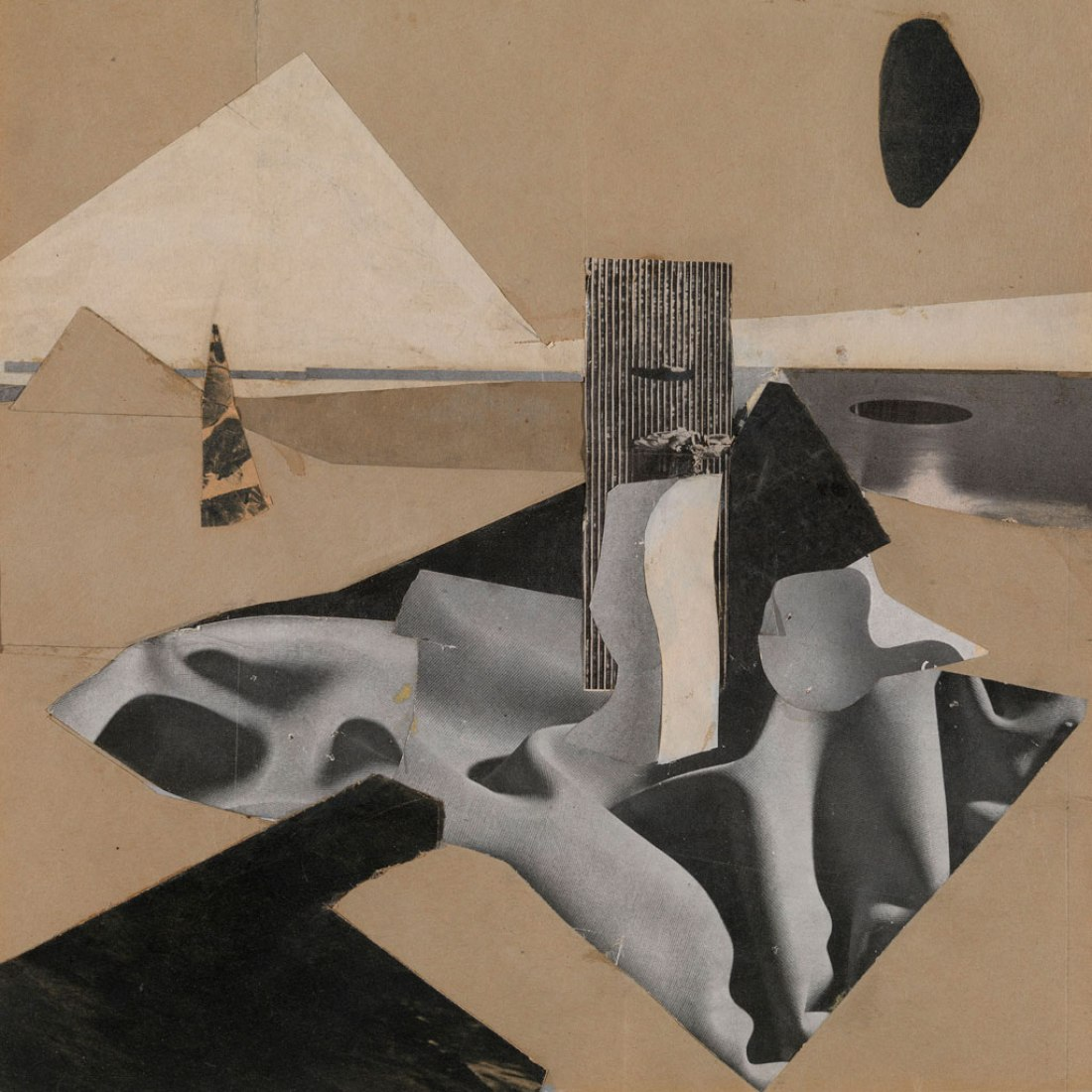 Untitled, c.1930. Collage on paper. Exhibition Eileen Gray: the private painter. Image courtesy of the Osborne Samuel Gallery.