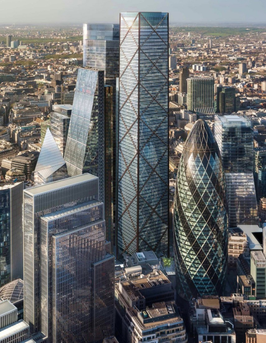 Rendering of 1 Undershaft by Eric Parry Architects. All images: DBOX, courtesy Eric Parry Architects.