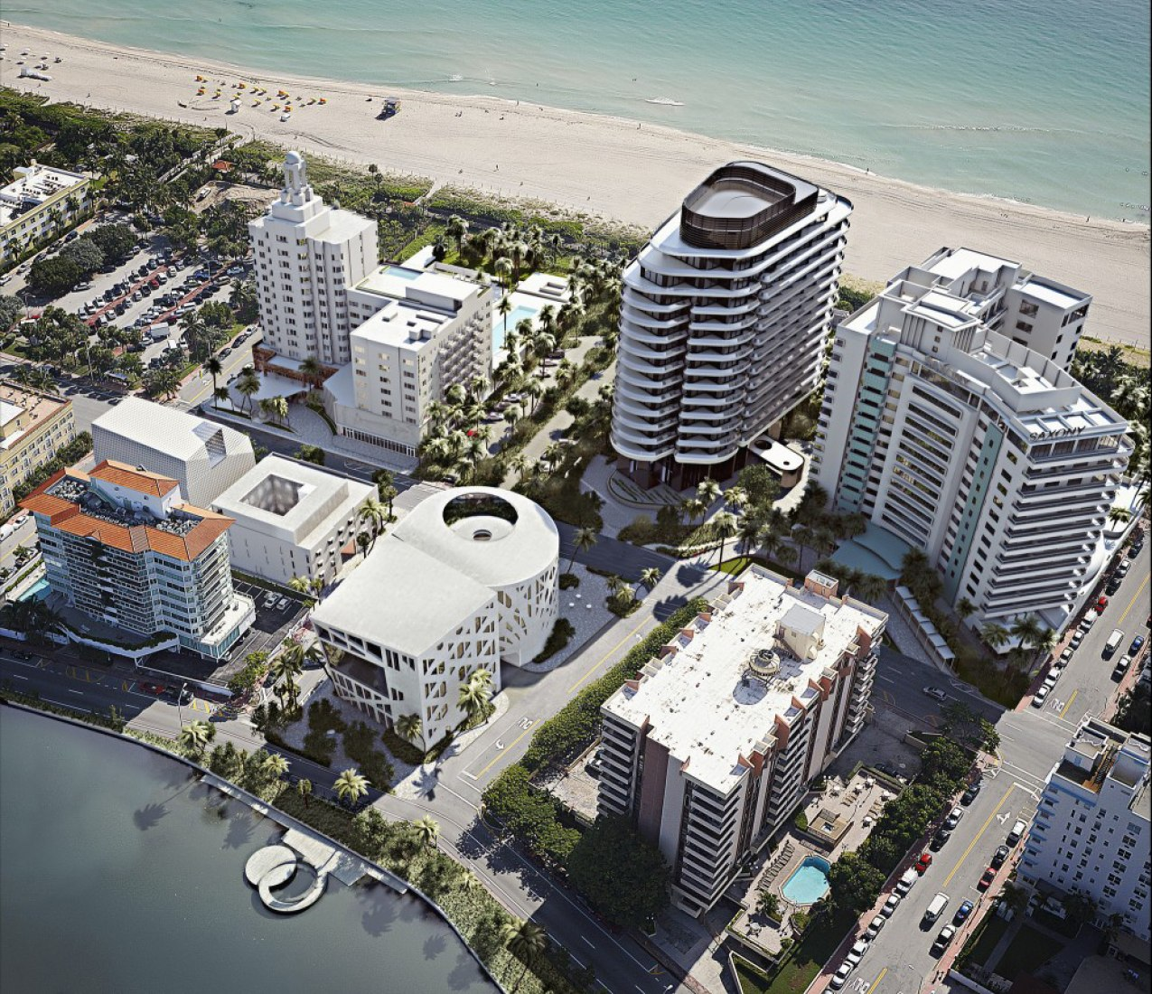Site plan rendering. Faena Arts Center by OMA.