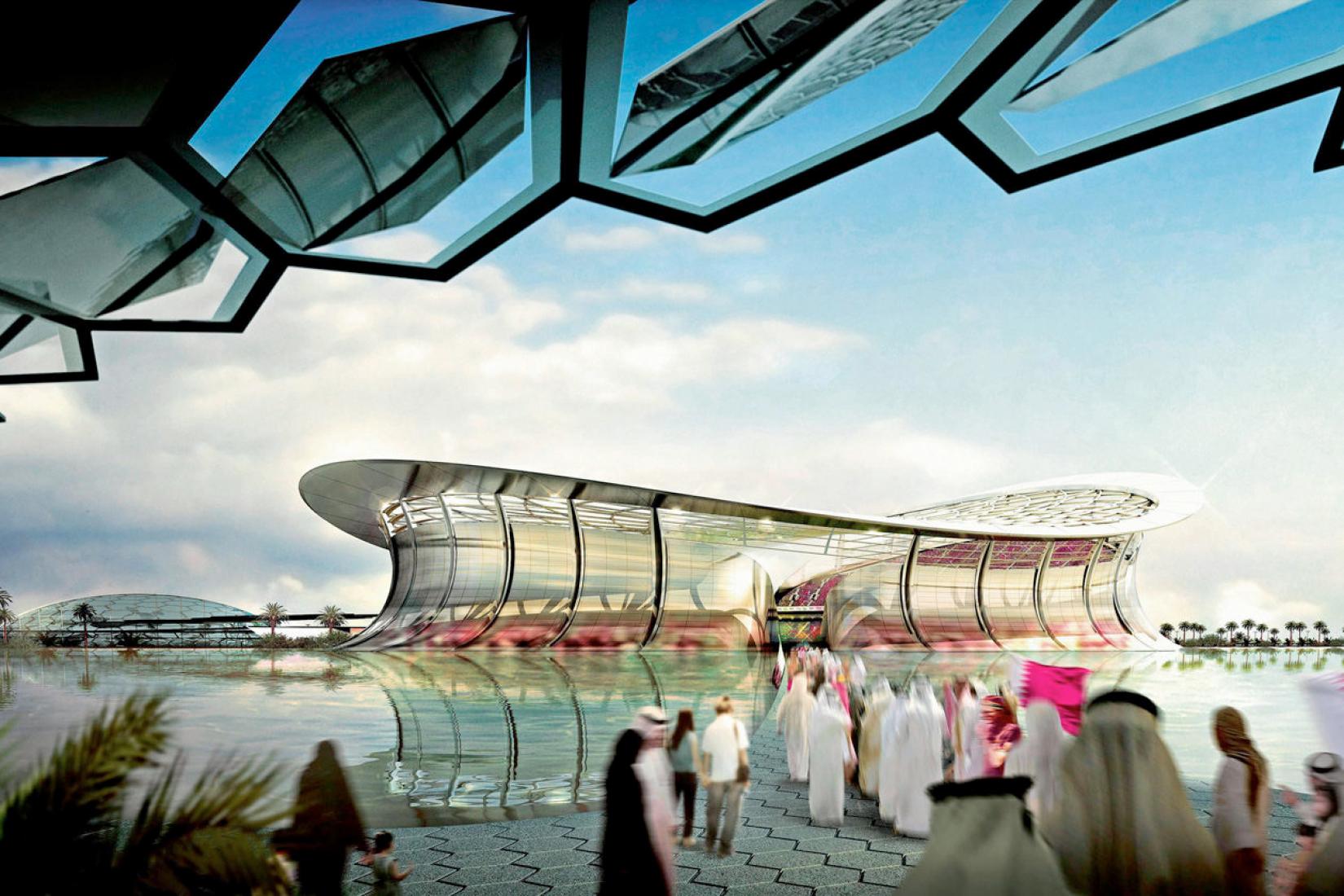¡La propuesta para un estadio de fútbol de clase mundial será construida en Lusail, Catar, a tiempo para la final de la emocionante Copa del Mundo 2022! Diseñado por los arquitectos Foster and Partners, el estadio tendrá una capacidad de 86.000 espectadores.