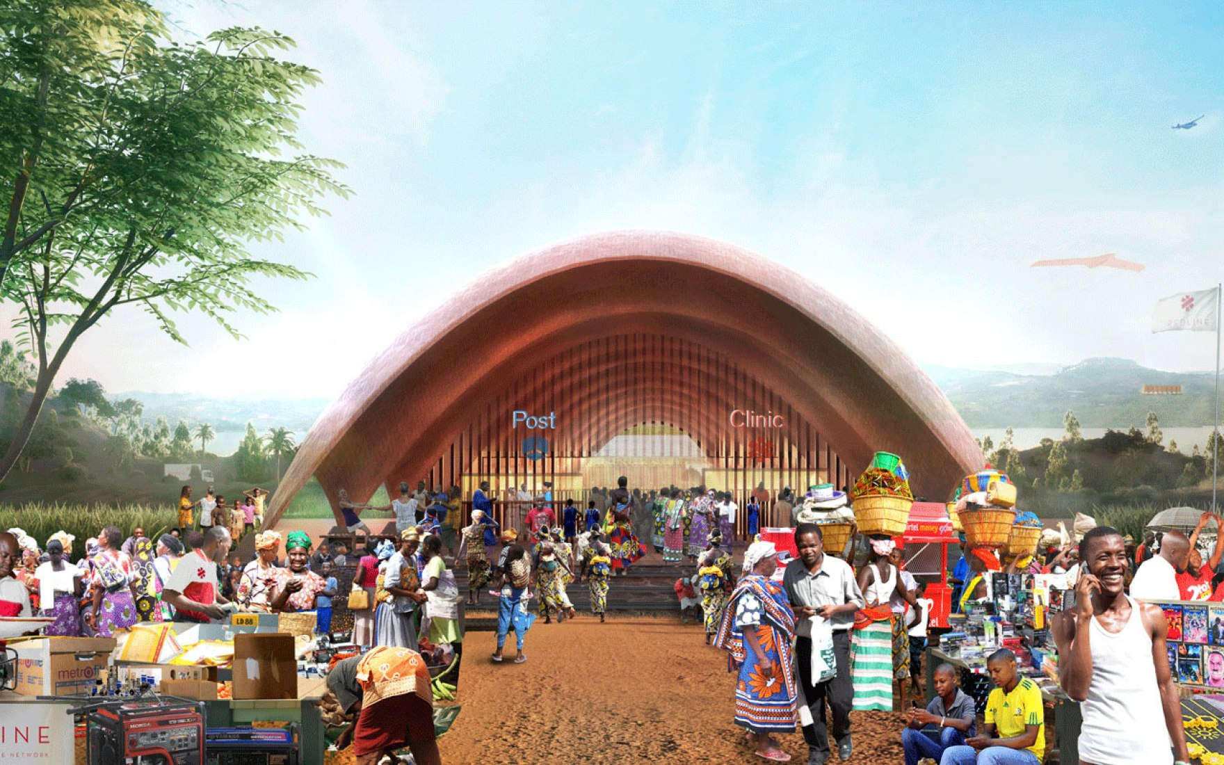Proposals for Droneport project by Norman Foster. Image courtesy of Foster + Partners.