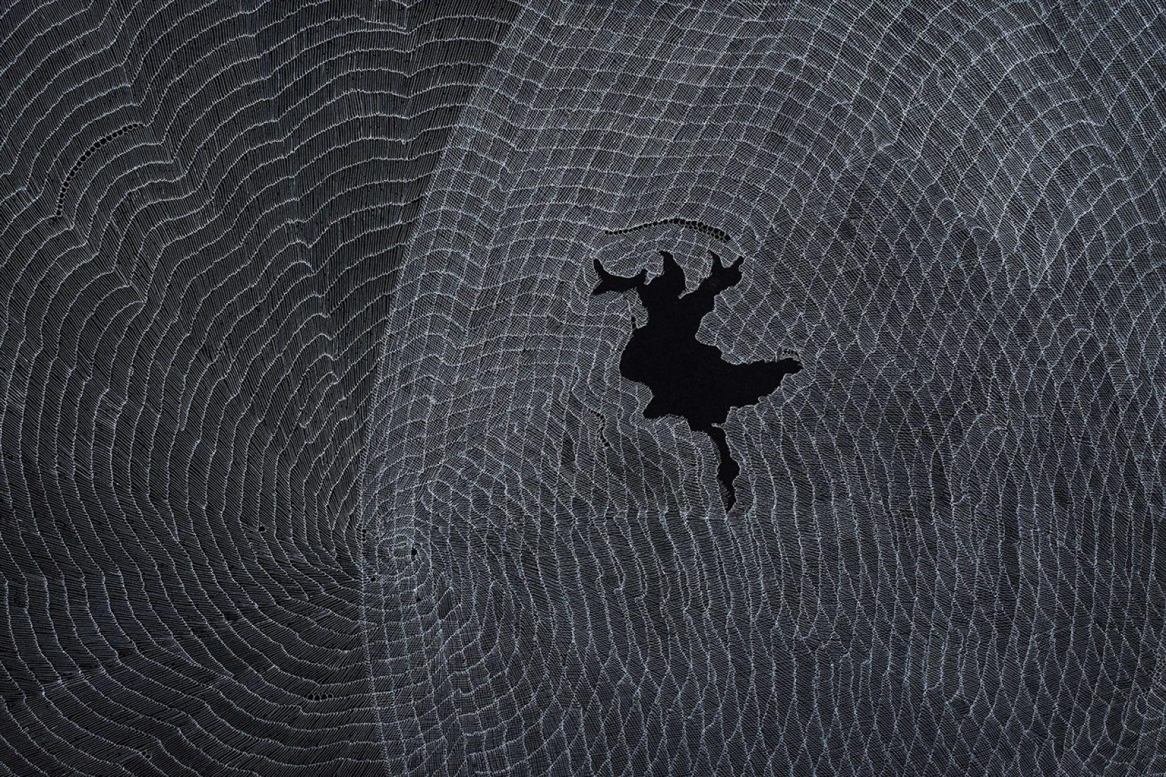 Detalle de Breath of The Compassionate IV, 2014. Tinta de archivo sobre papel wasli. 216x122 cm. Única. Cortesía de Sabrina Amrani Gallery y el artista.