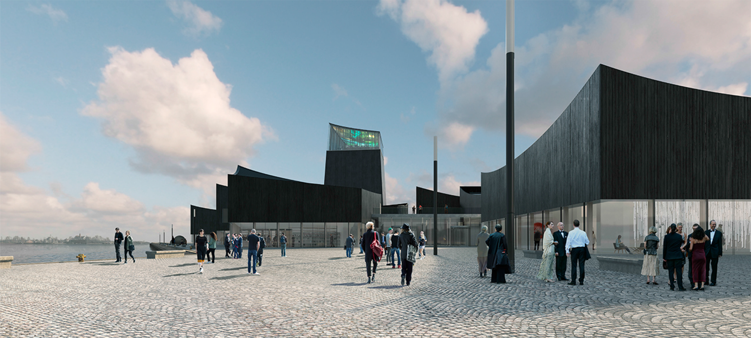 Access. Guggenheim Helsinki by Moreau Kusunoki. Image vía Guggenheim Helsinki Design Competition.