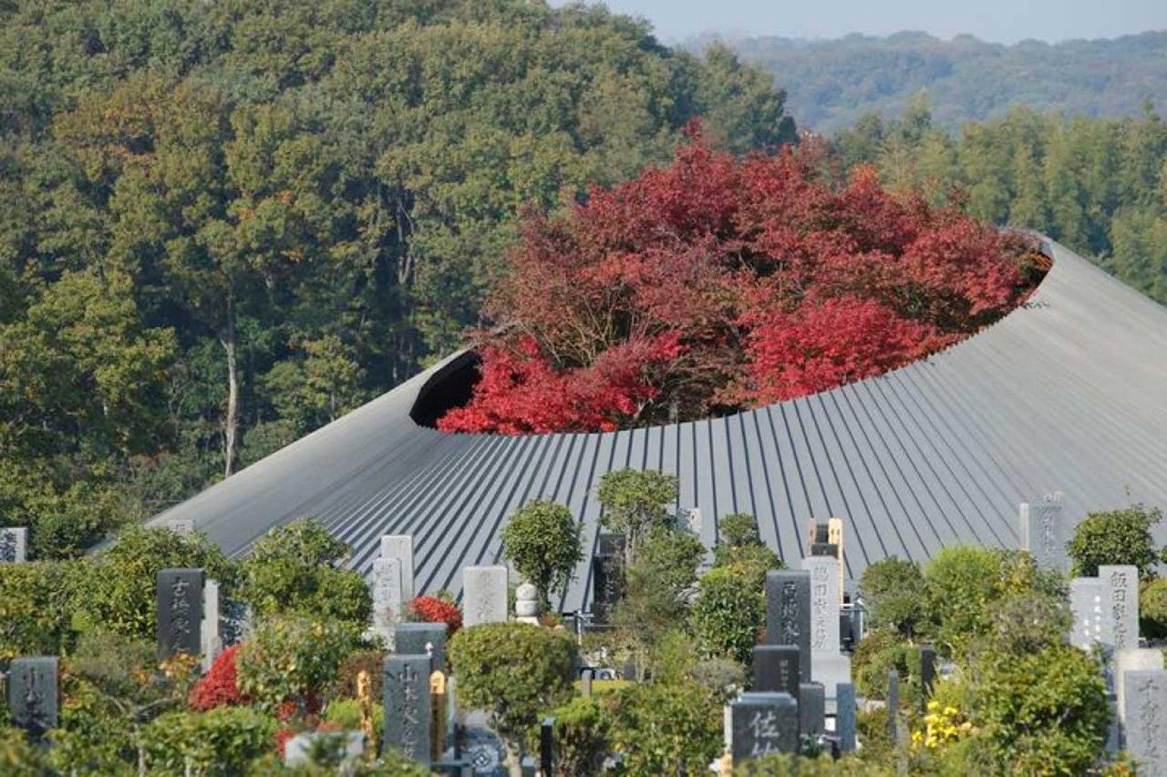 Centro Comunitario en el Cementerio Sayama Lakeside por Hiroshi Nakamura & NAP. Fotografía @ Koji Fujii / Nacasa and Partners.