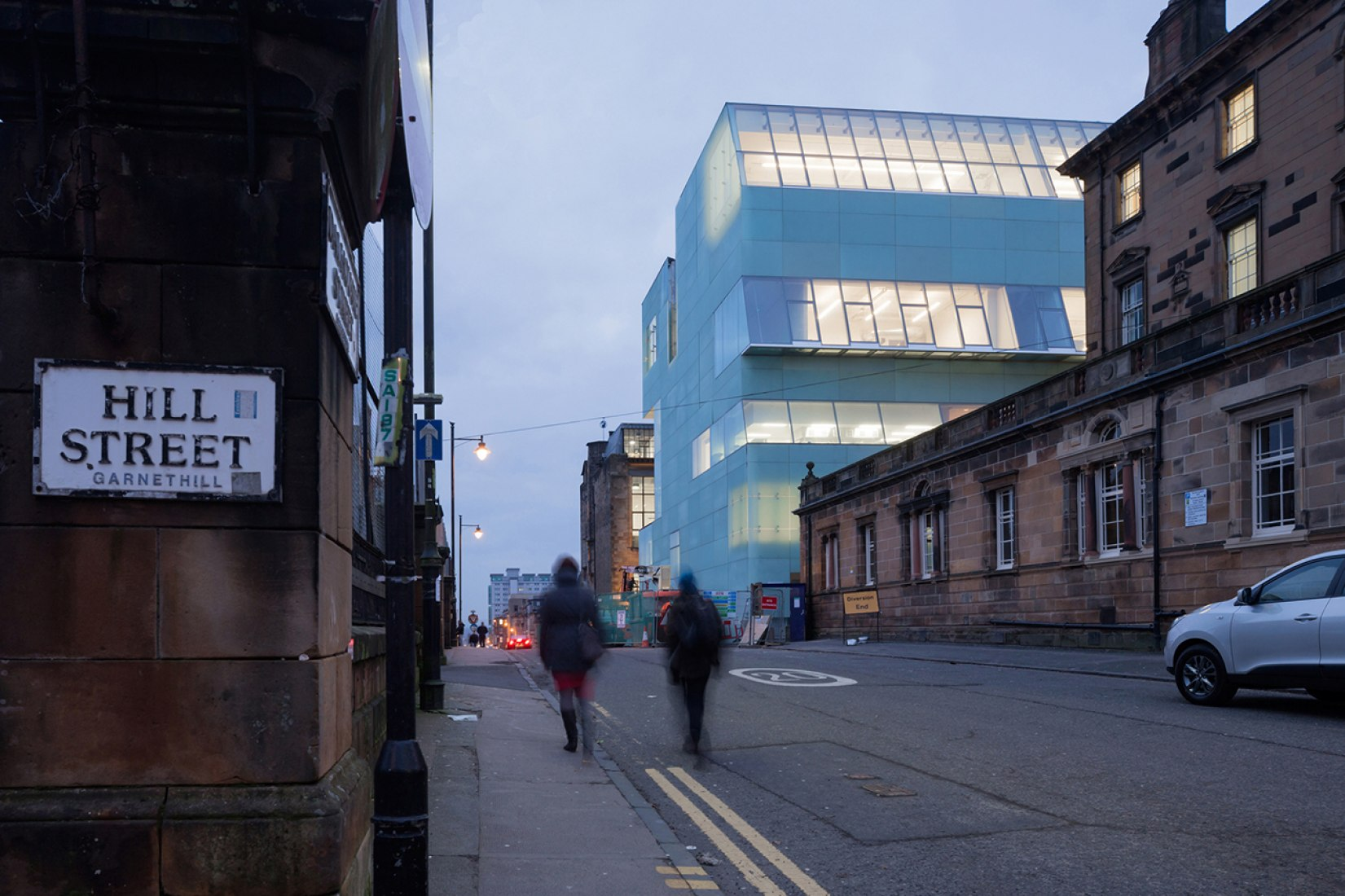 Steven Holl has designed a contemporary addition to the Glasgow School of Art's campus.