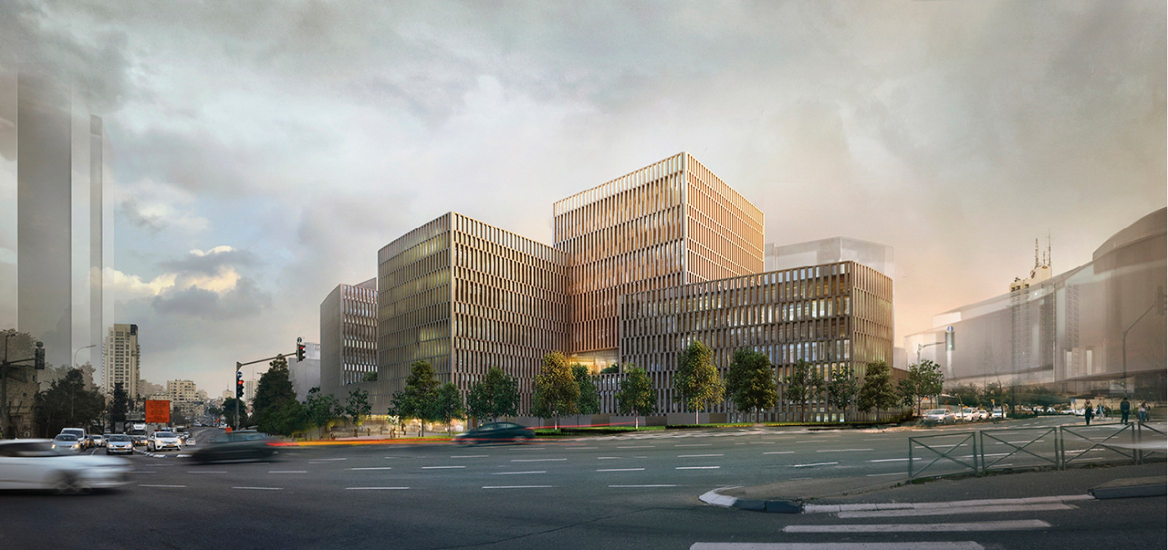 Rendering. Jerusalem District Courthouse by Studio PEZ and Zarhy Architects.